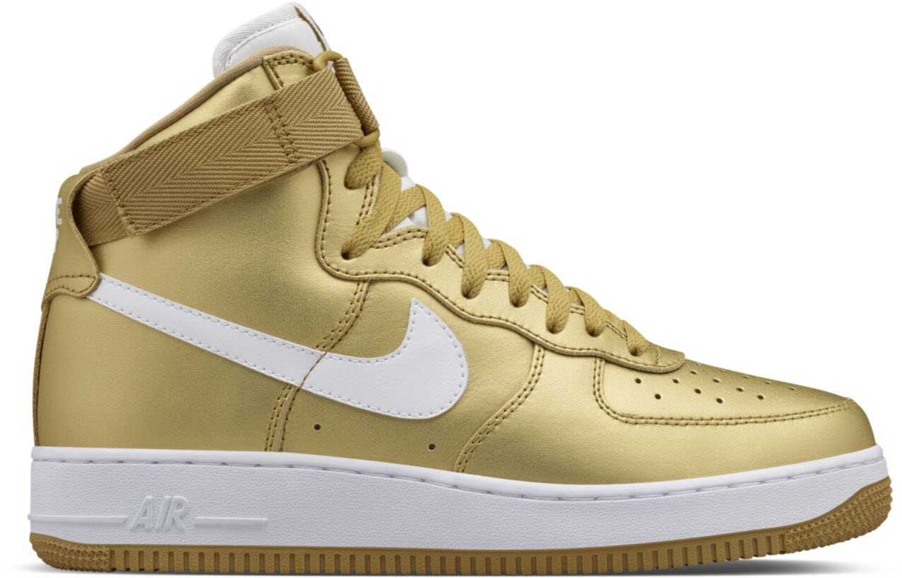 air force 1 metallic gold