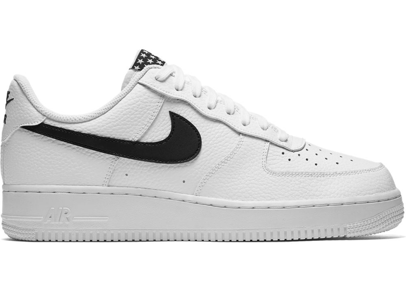 candidato lanzador pasatiempo  Nike Air Force 1 Low Stars White Black - AA4083-103