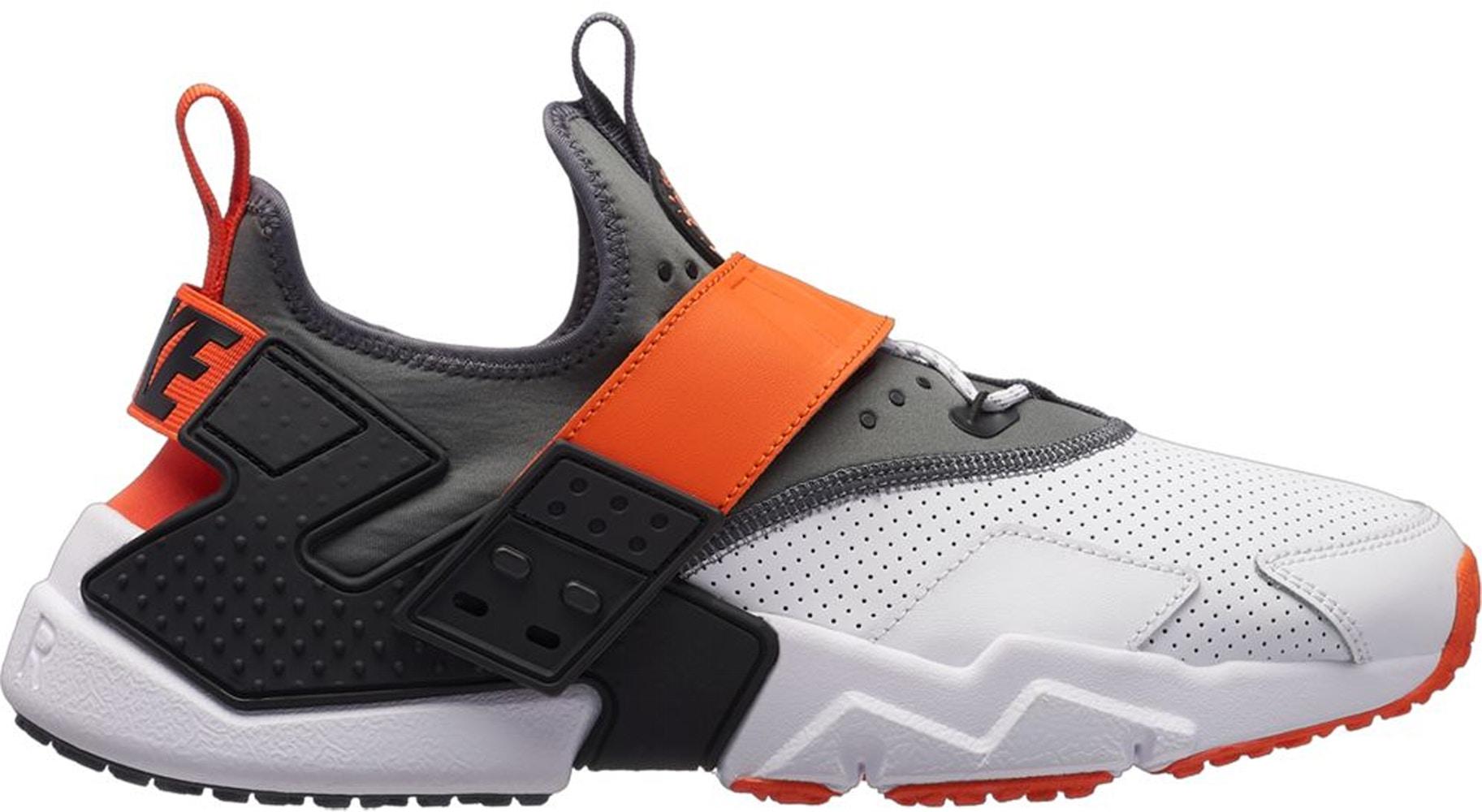 Nike Air Huarache Drift White Dark Grey Rush Orange - AH7335-102