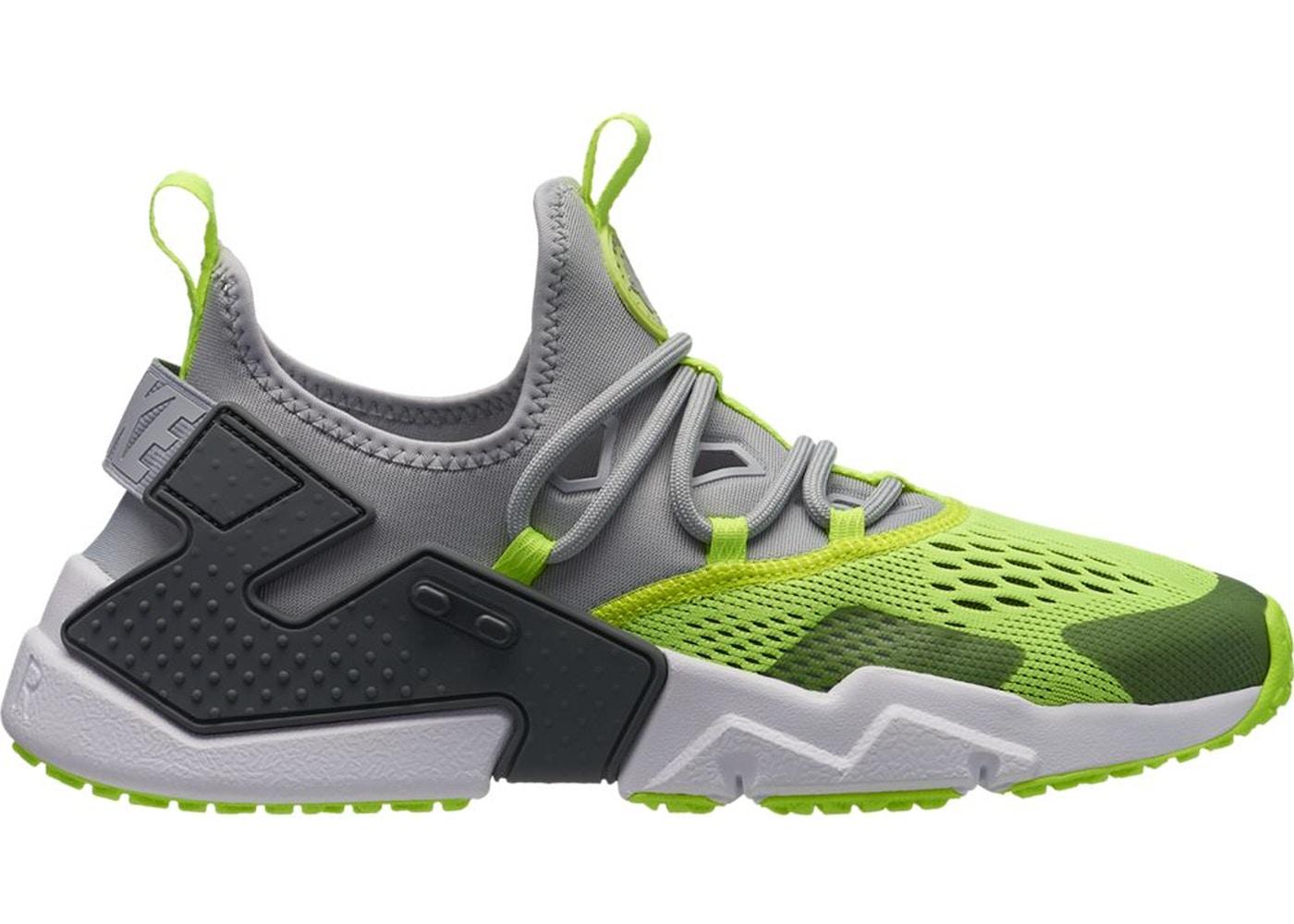 Nike Air Huarache Drift Wolf Grey Volt - AO1133-001