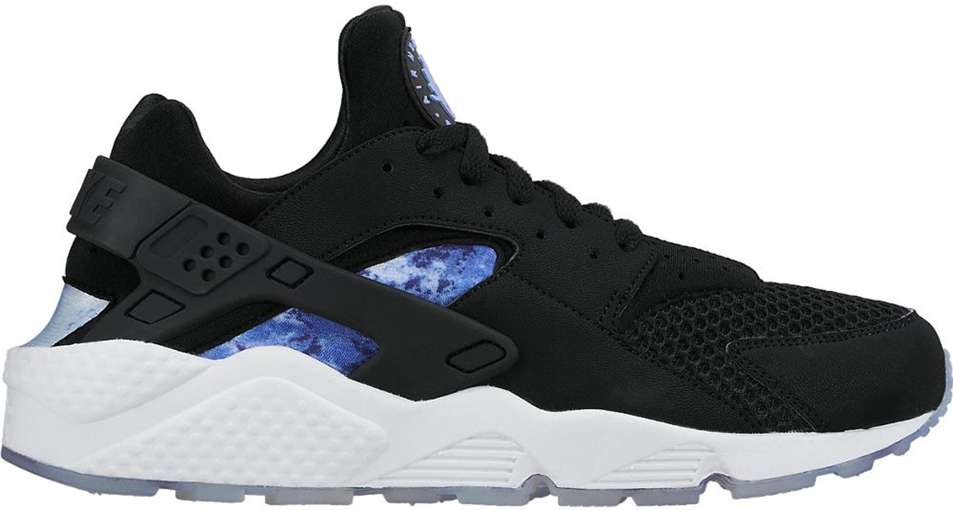 Nike Air Huarache Run Black Persian Violet Aluminum - 724764-004