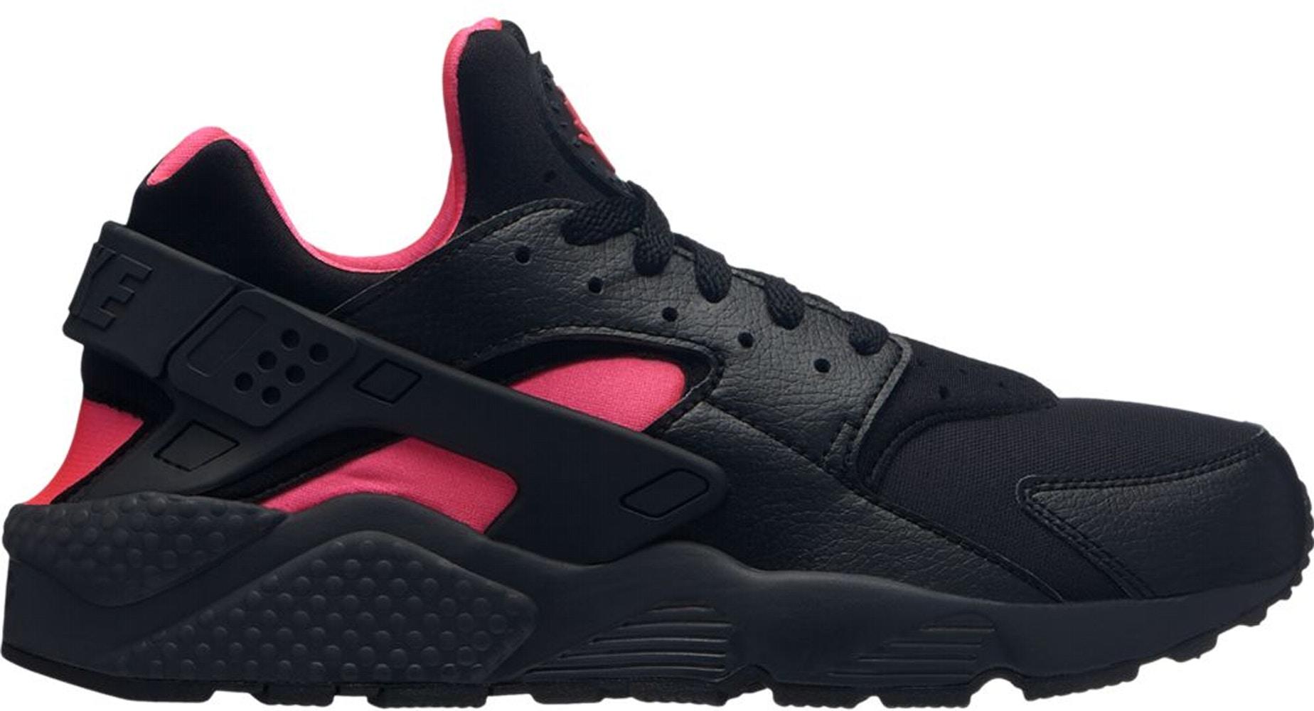 Nike Air Huarache Run Black Solar Red