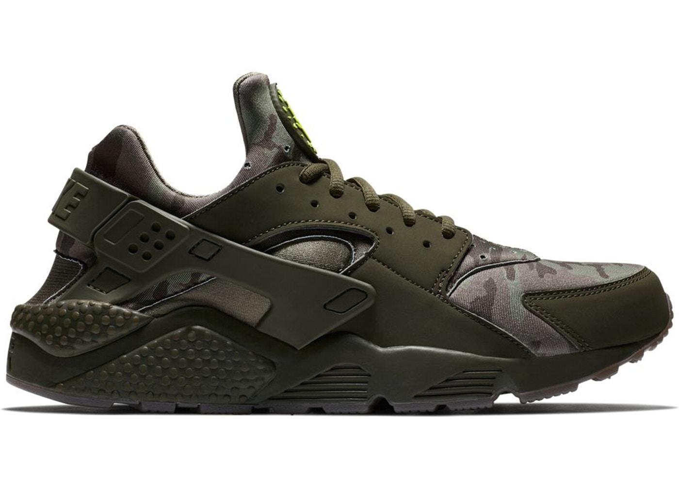 Cadena dos semanas Contiene  Nike Air Huarache Run Camo Green - AT6156-300