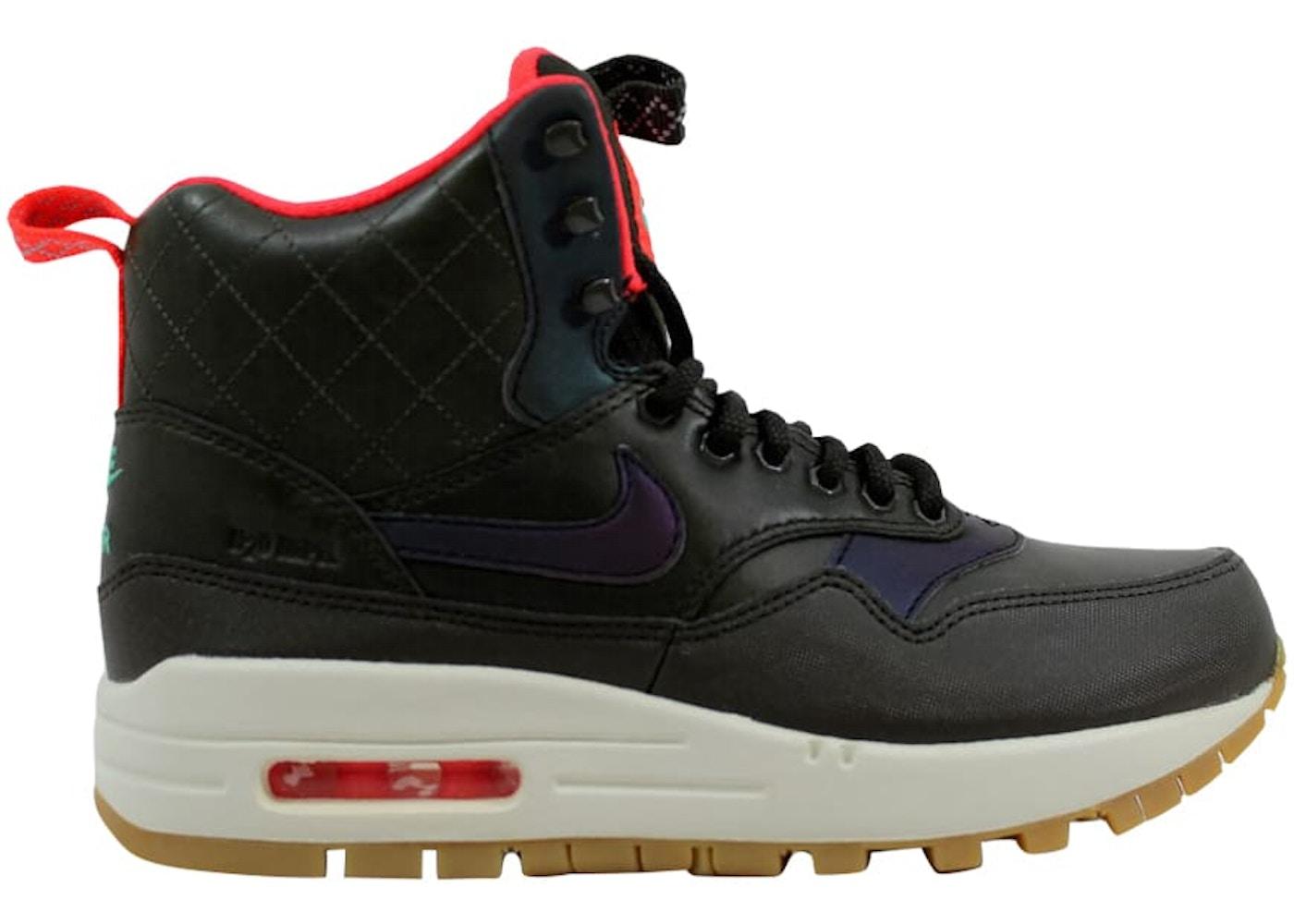 localizar embargo no usado  Nike Air Max 1 Mid Sneakerboot Reflect Sequoia/Black-Bright Crimson-Mint  (W) - 807307-300