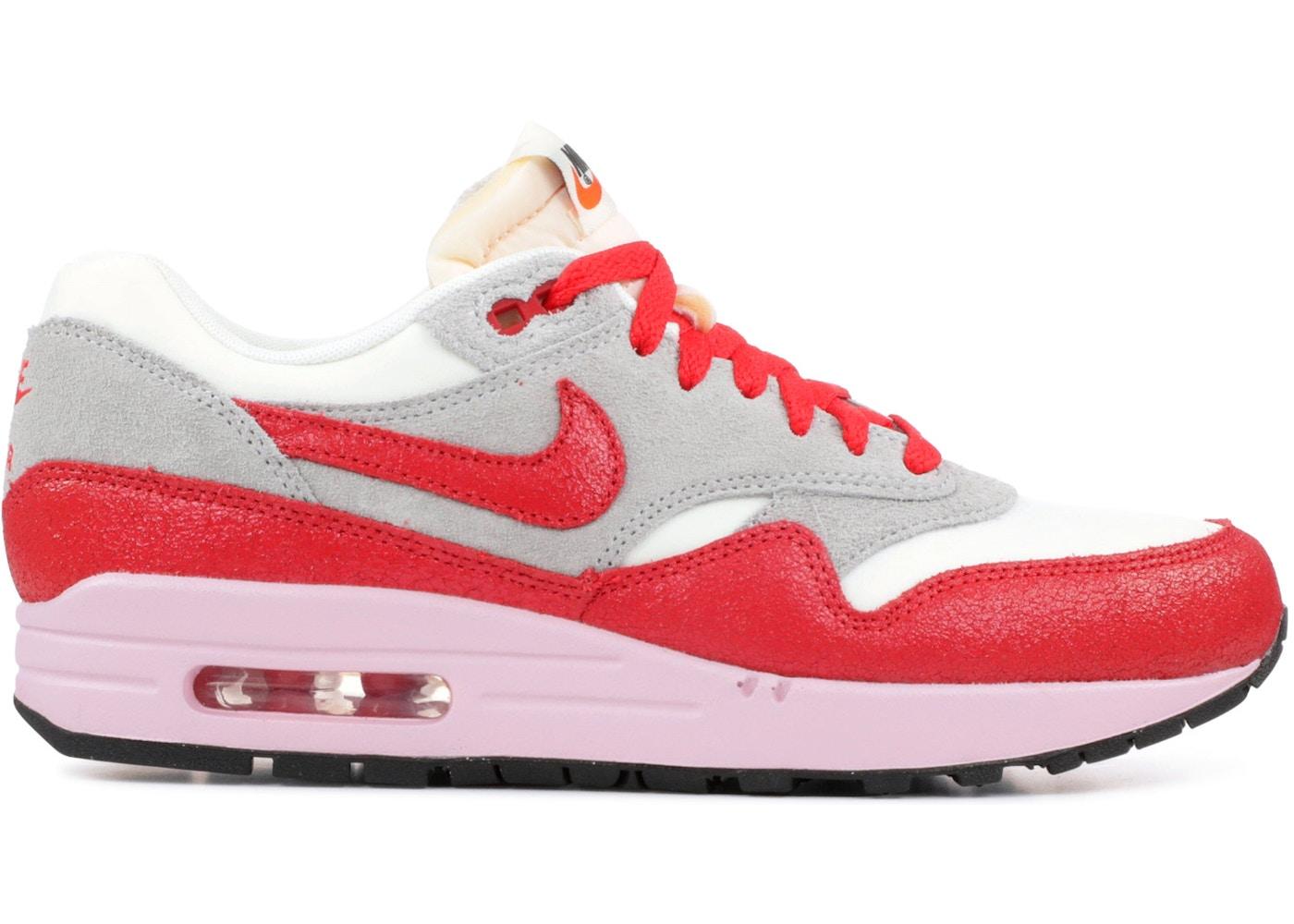 Horror Hermana Acción de gracias  Nike Air Max 1 Vintage Hyper Red (W) - 555284-103