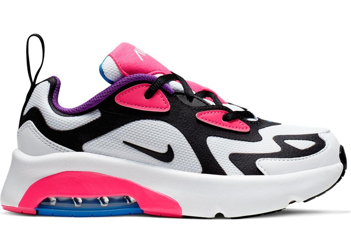Nike Air Max 200 White Hyper Pink Black (PS)
