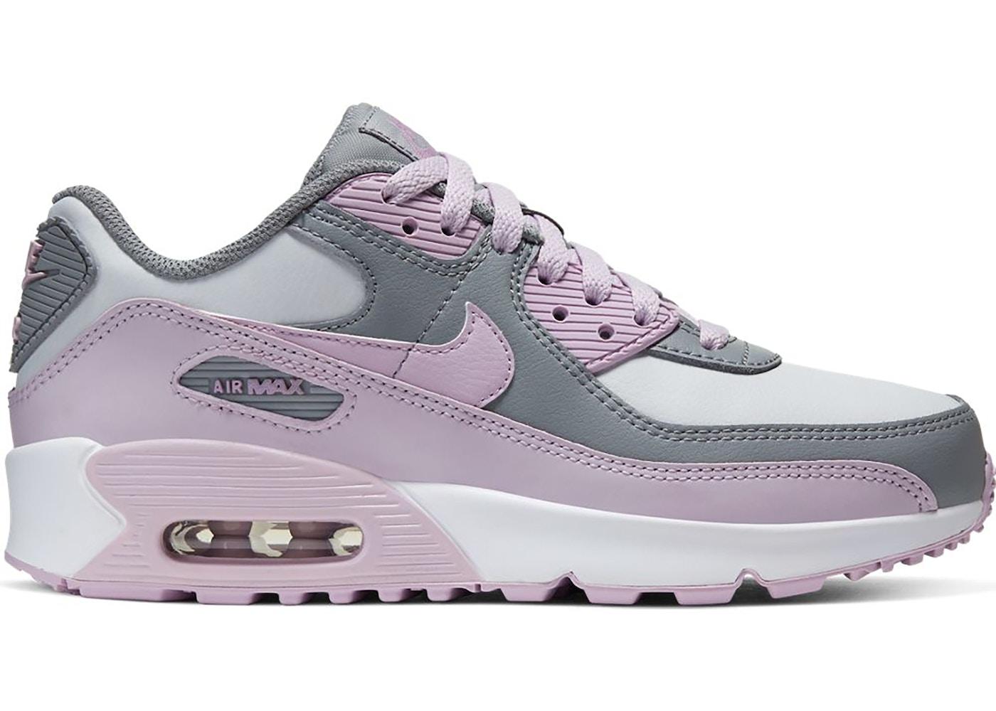 Elasticidad Vacilar Emoción  Nike Air Max 90 Leather Particle Grey Iced Lilac (GS) - CD6864-002