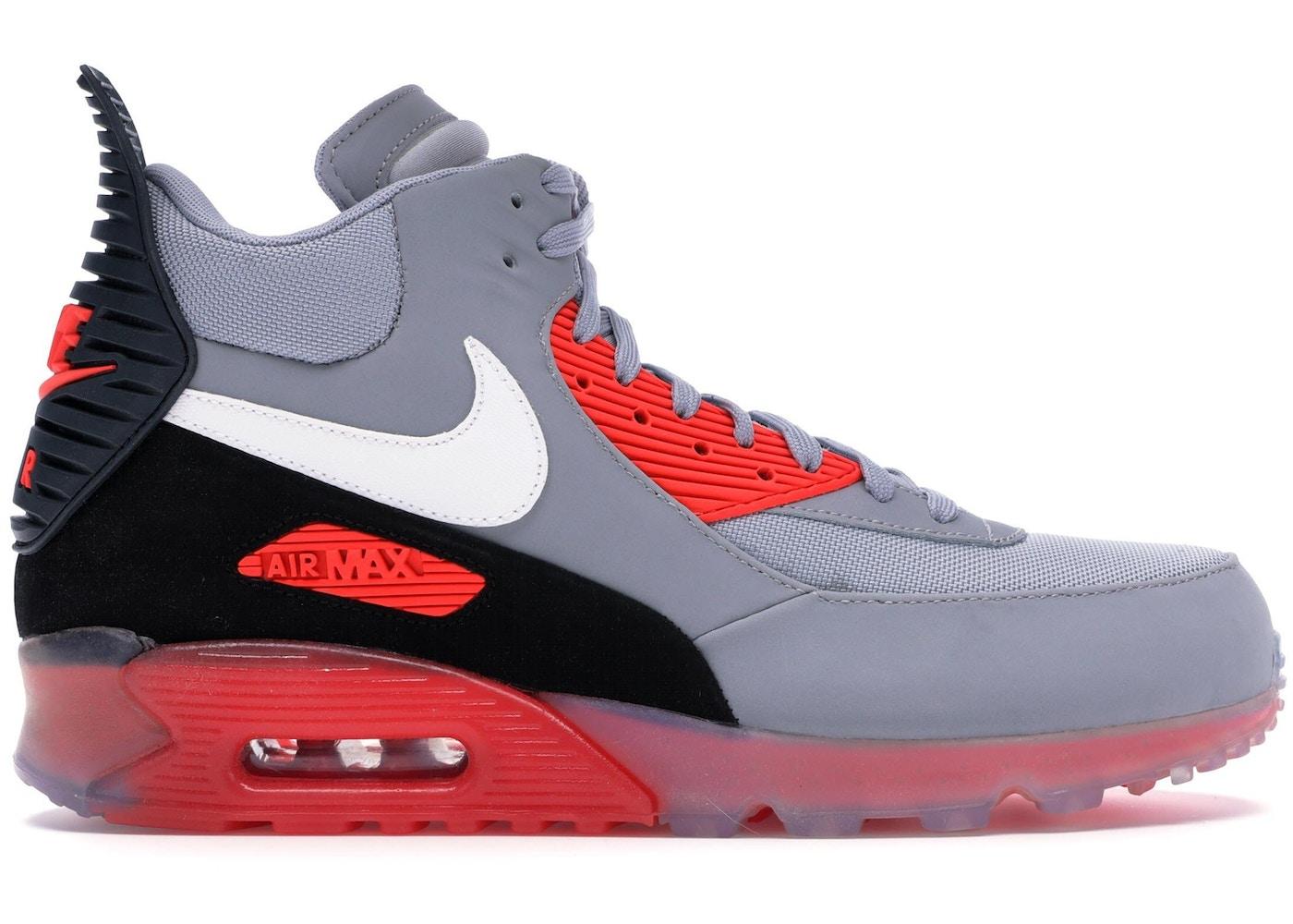 Lavandería a monedas Profesor Molde  Nike Air Max 90 Sneakerboot Ice Wolf Grey Infrared - 684722-006