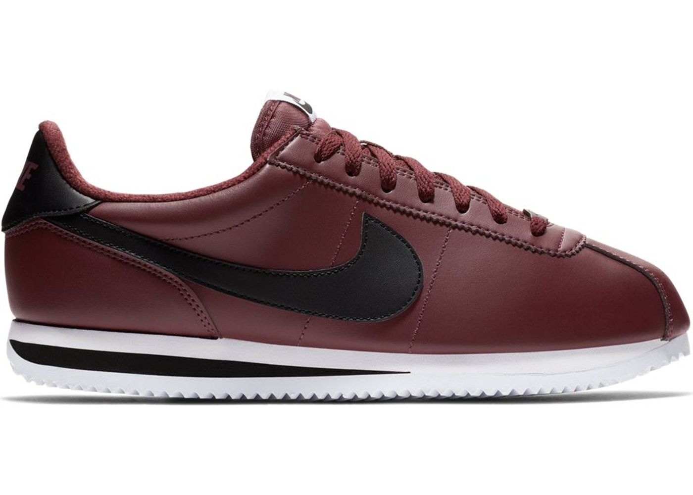 encuentro Ejercicio Leer  Nike Cortez Leather Burgundy Crush - 819719-600
