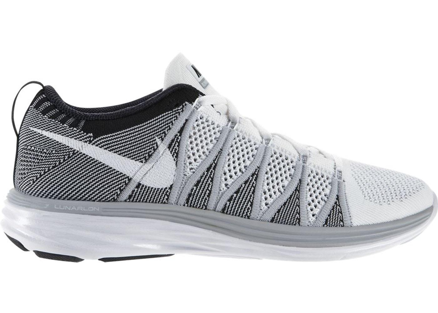 Prohibir parque Natural En cualquier momento  Nike Flyknit Lunar 2 White Wolf Grey Black - 620465-100
