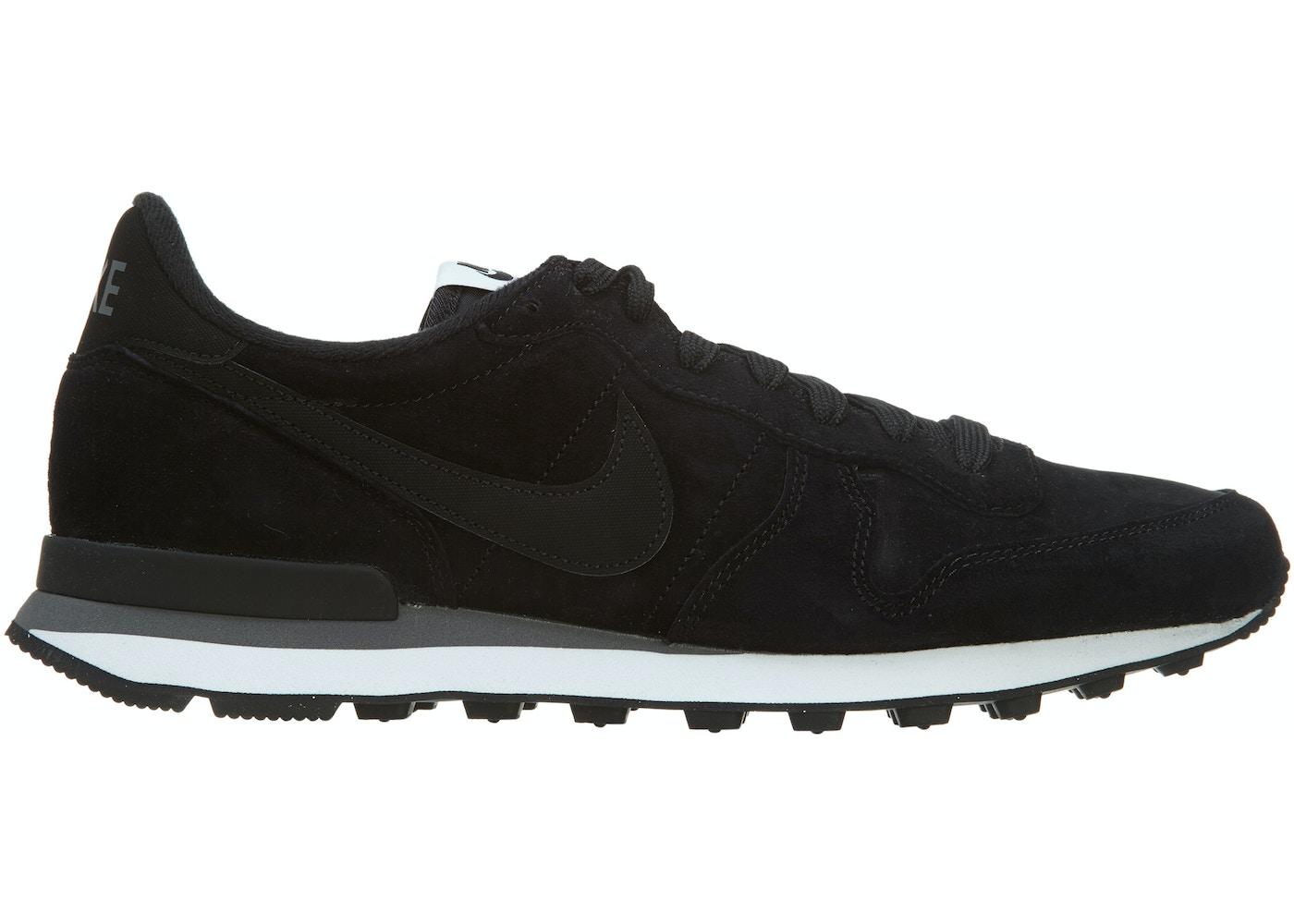 Pef abolir Fatal  Nike Internationalist Leather Black Black-Dark Grey-White - 631755-010