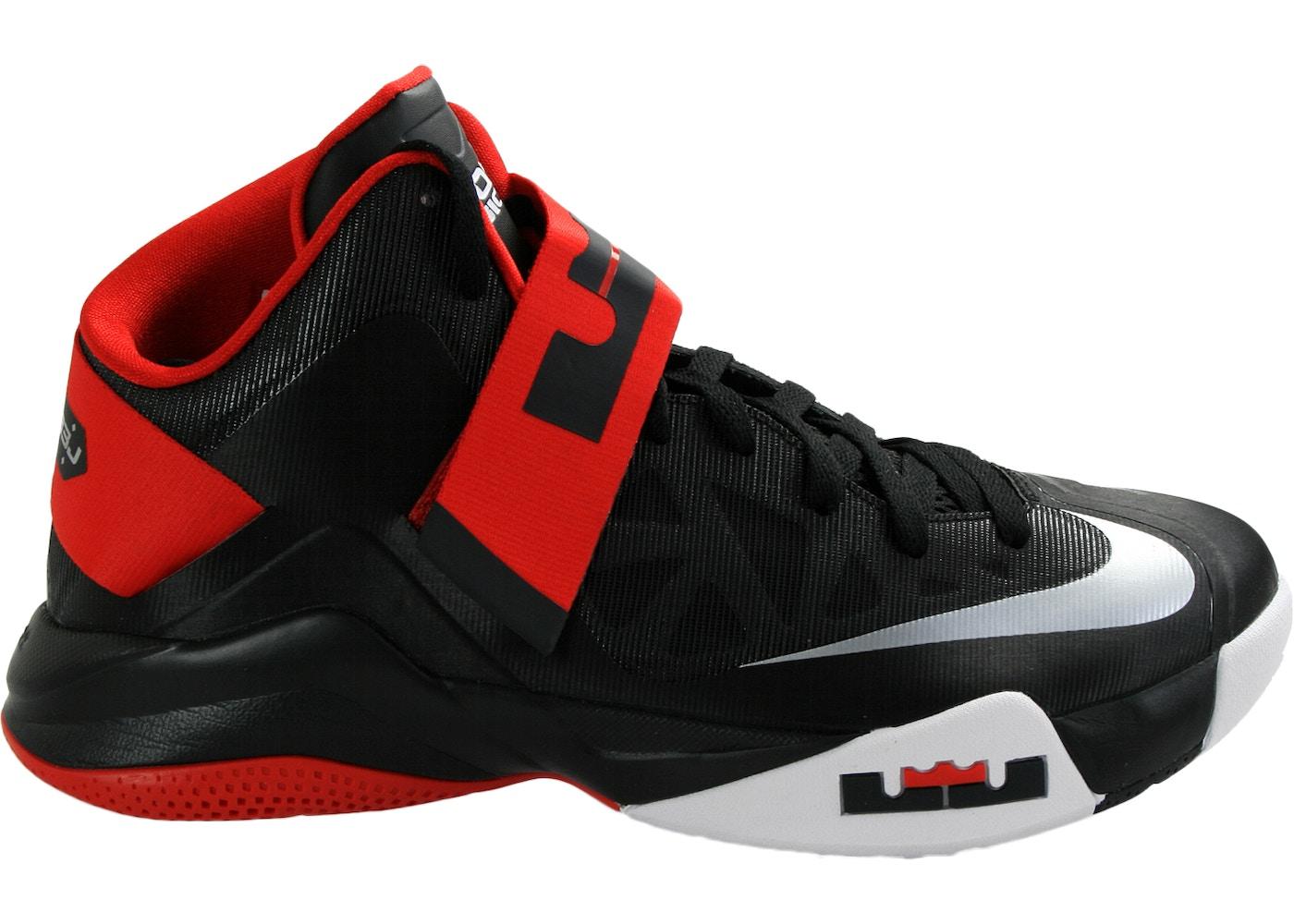 Identificar instinto locutor  Nike LeBron Zoom Soldier 6 Black Red White - 525015-001