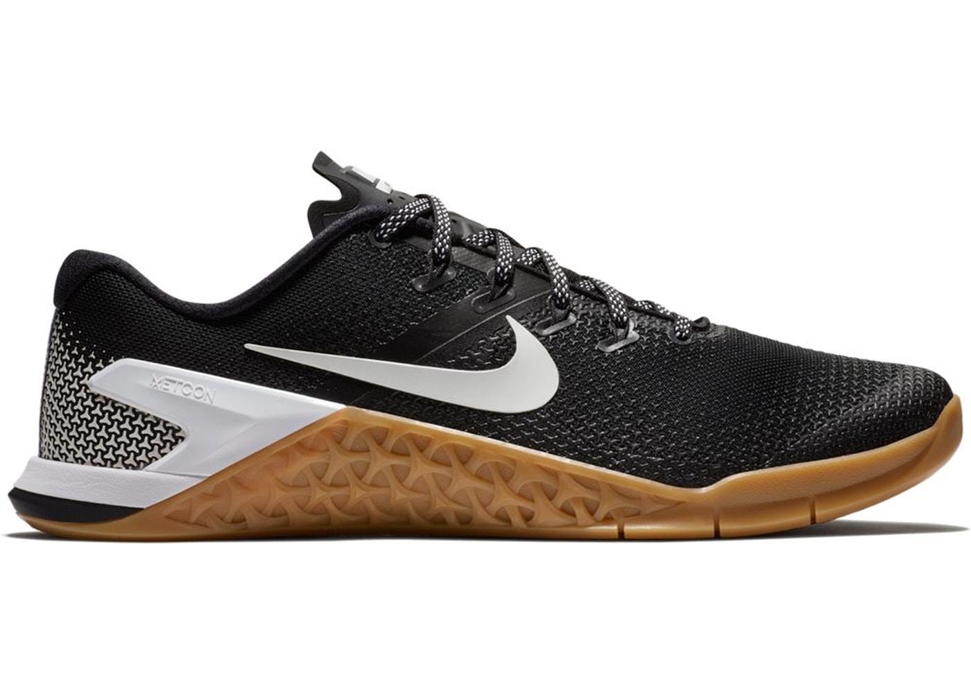 Sobriqueta Respecto a tierra  Nike Metcon 4 Black White Gum - AH7453-006