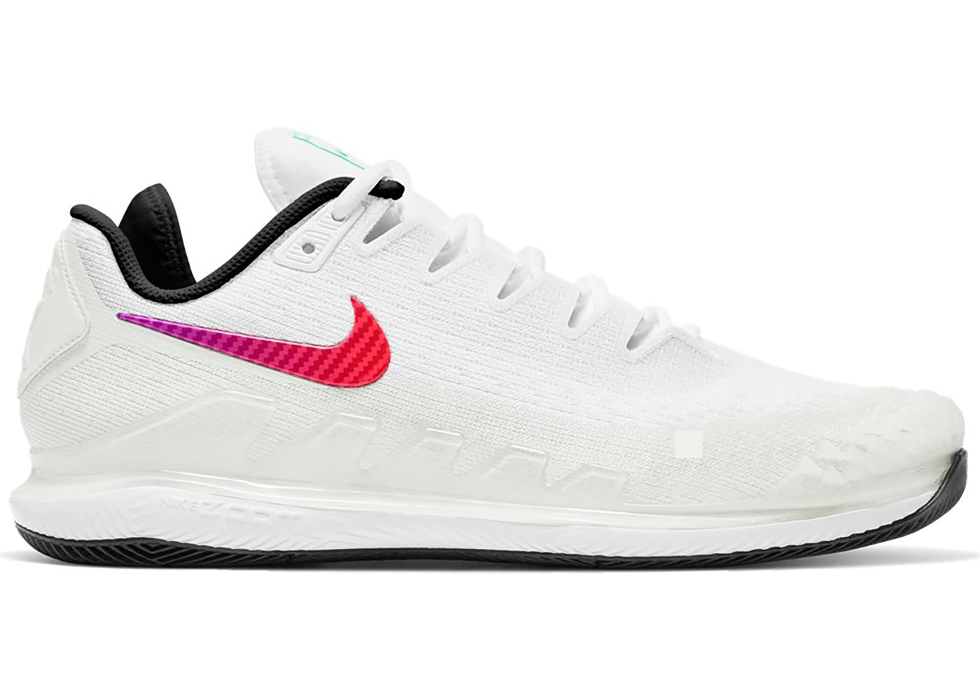 Nikecourt Air Zoom Vapor X Knit White Black Electro Green Ar0496 112