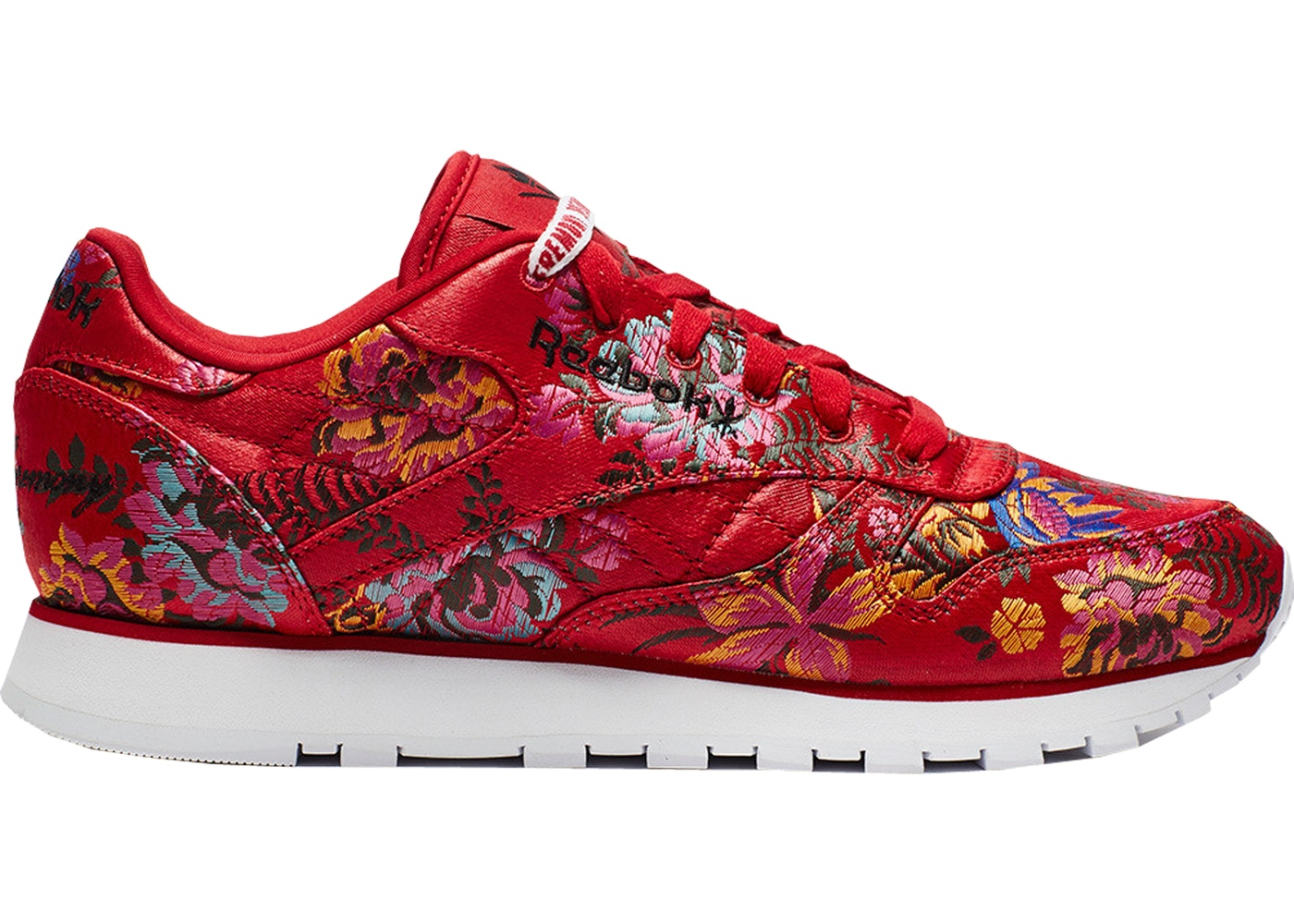 comportarse chorro Sentido táctil  Reebok Classic Leather Opening Ceremony Floral Satin Red - Sneakers