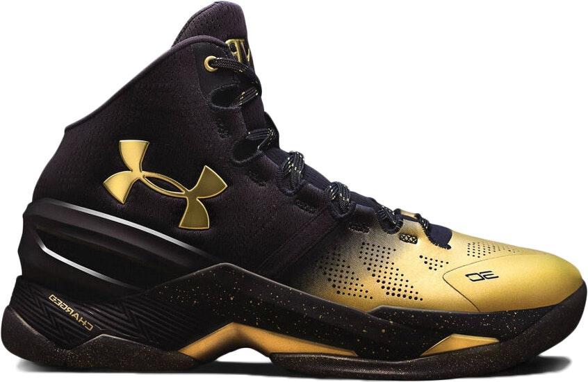 45 RARE Under Armour Curry 2 B2B MVP Gold Basketball Shoes SZ 11 12 1300015 001