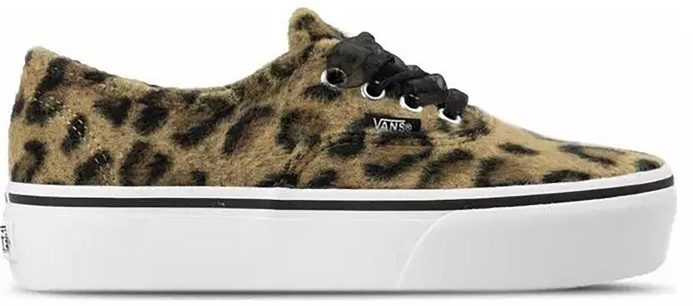 vans bleu leopard