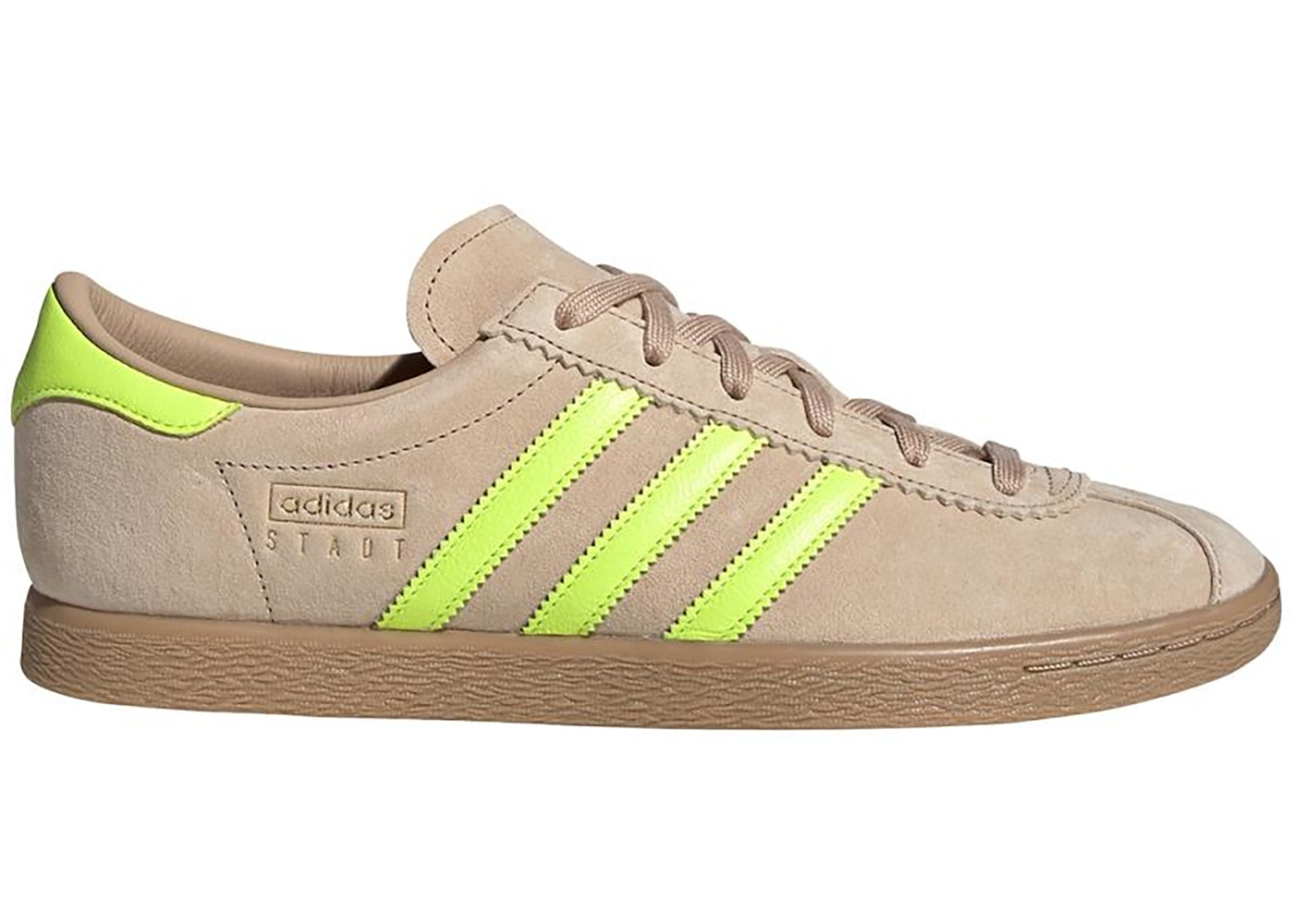 Buy Adidas Stadt st pale nude/solar yellow/gum 4 from £54