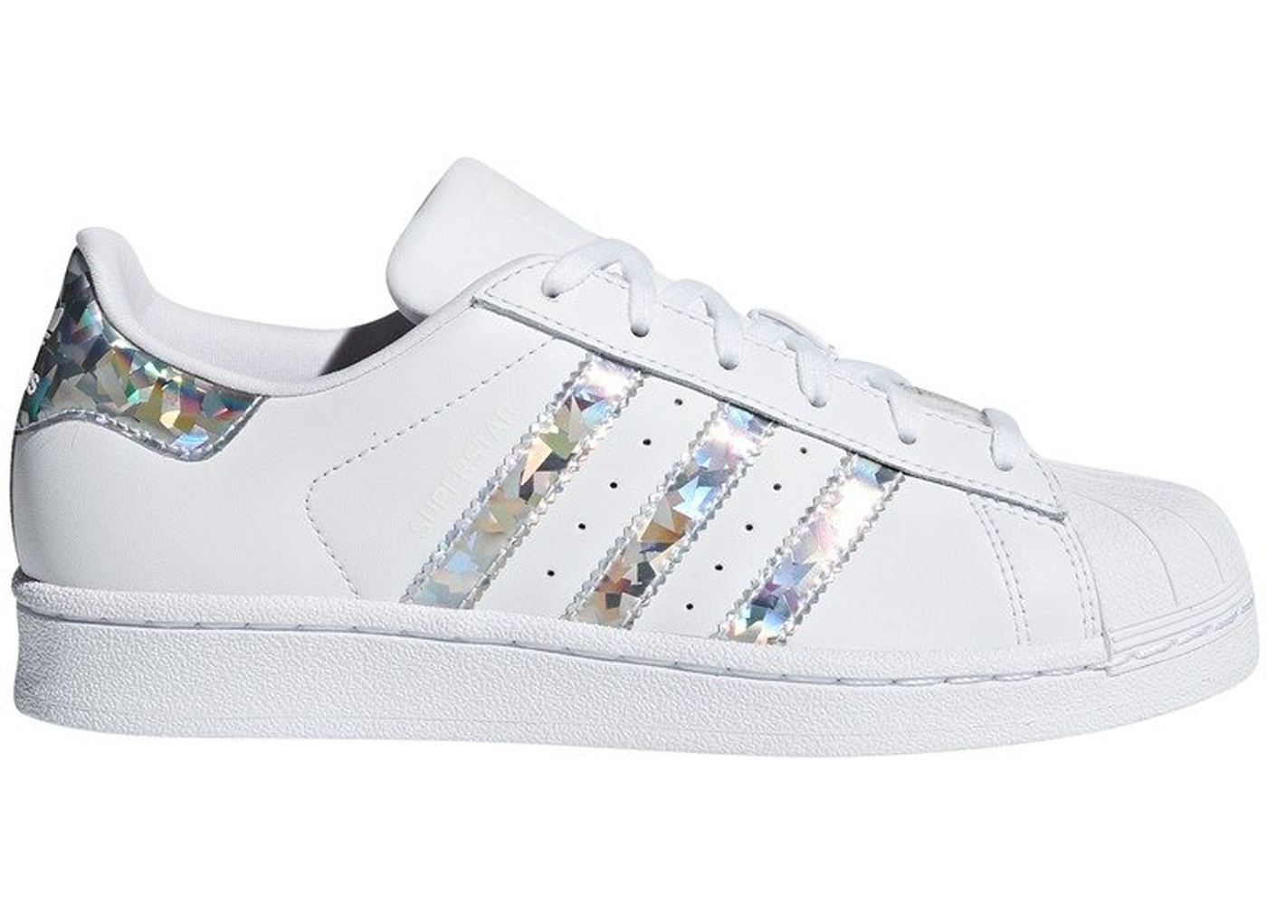 adidas Superstar White Holographic Stripes (Youth)