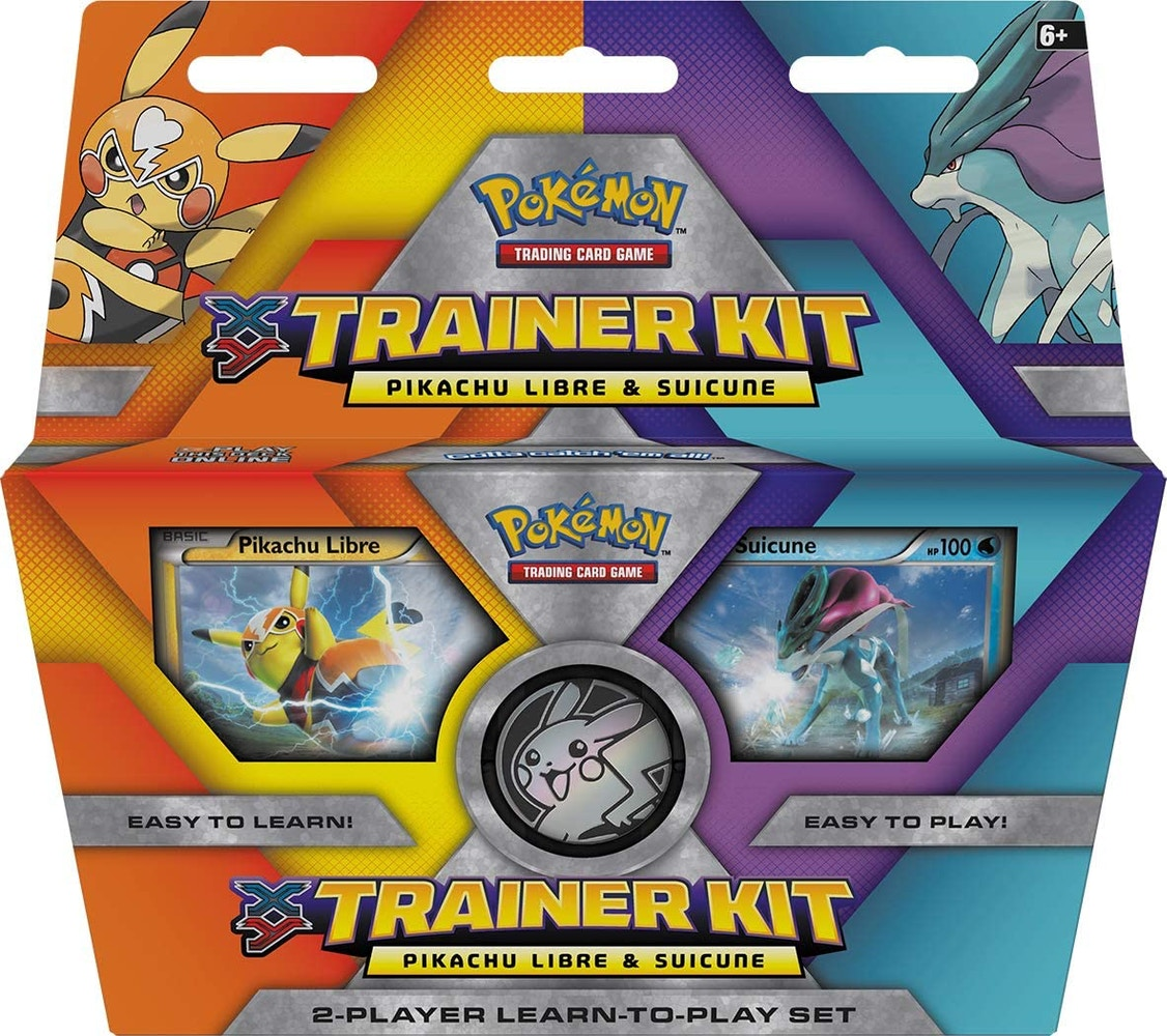 2016 Pokemon TCG XY Trainer Kit Pikachu Libre and Suicune - 2016