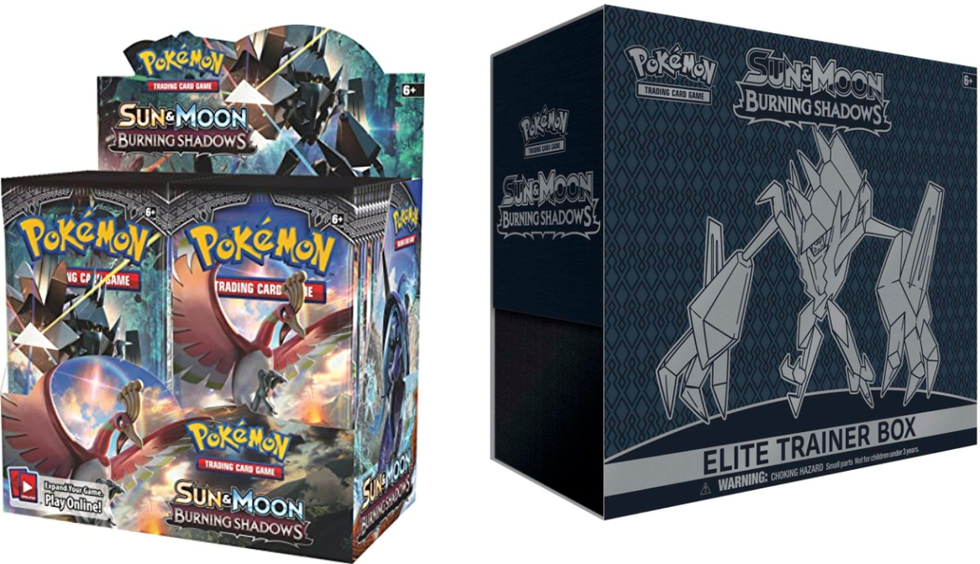 2017 Pokemon TCG Sun & Moon Burning Shadows Booster Box & Elite Trainer Box  Bundle - 2017