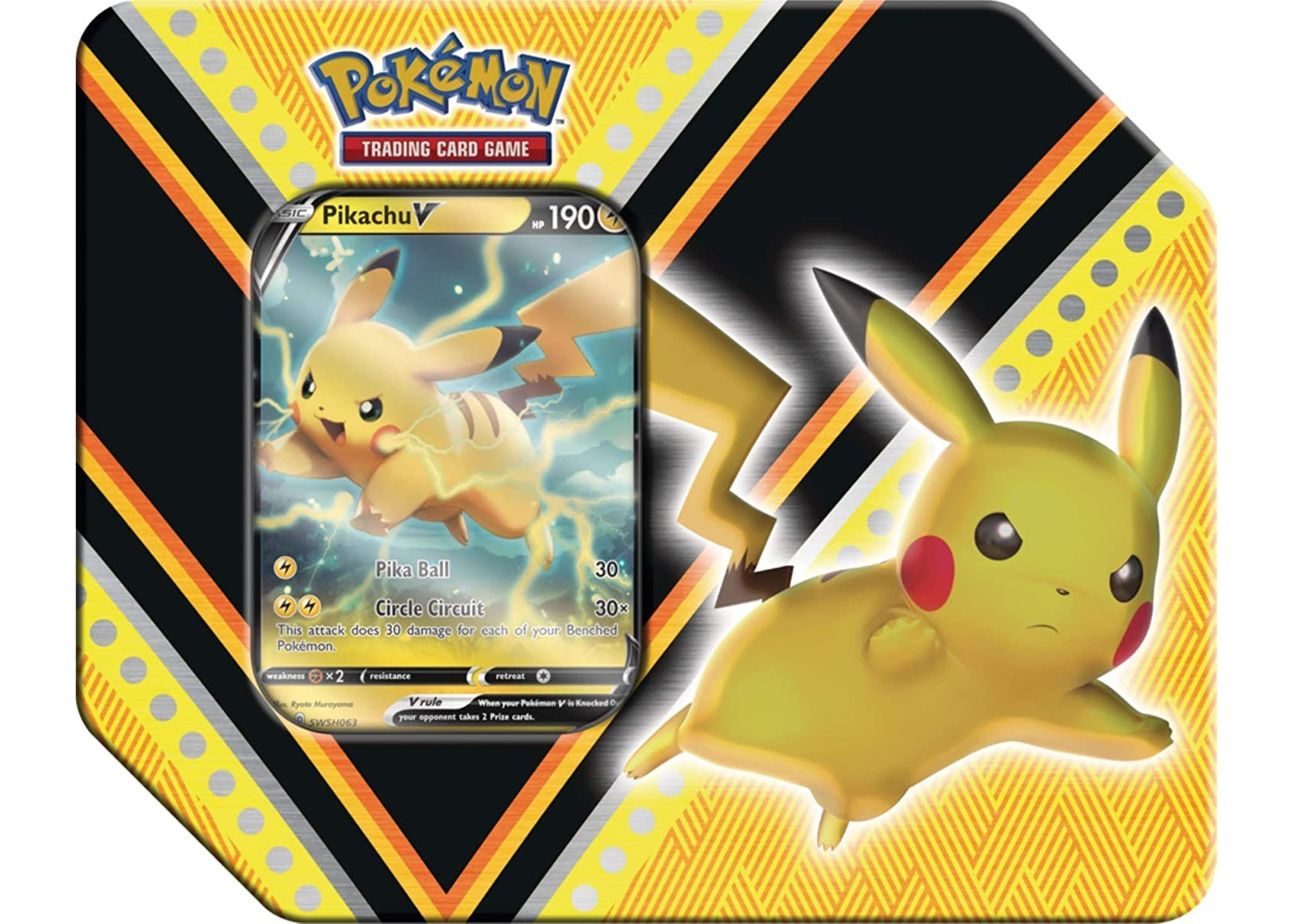 2020 Pokemon TCG V Powers Pikachu V Tin - 2020