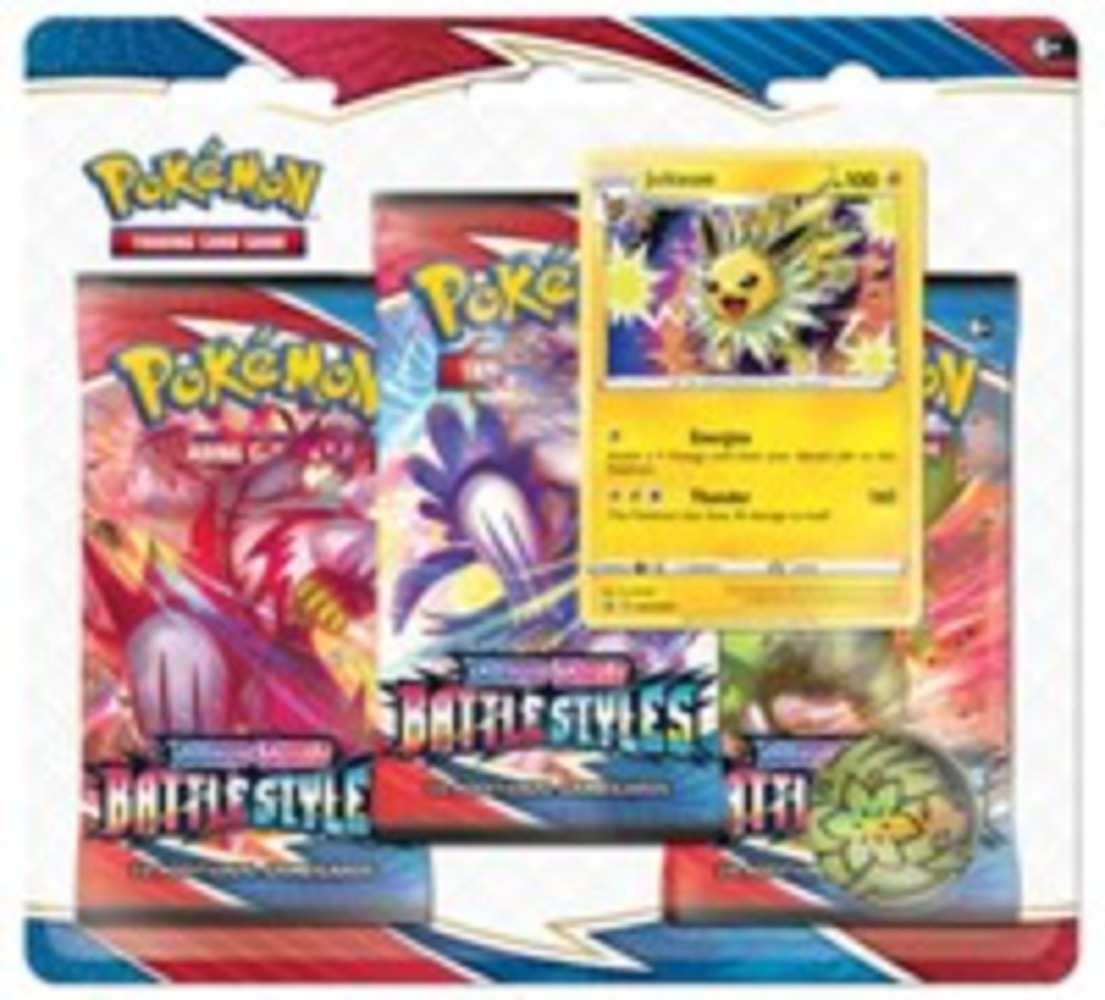 2021 Pokemon TCG Sword & Shield Battle Styles 3 Pack Blister Jolteon