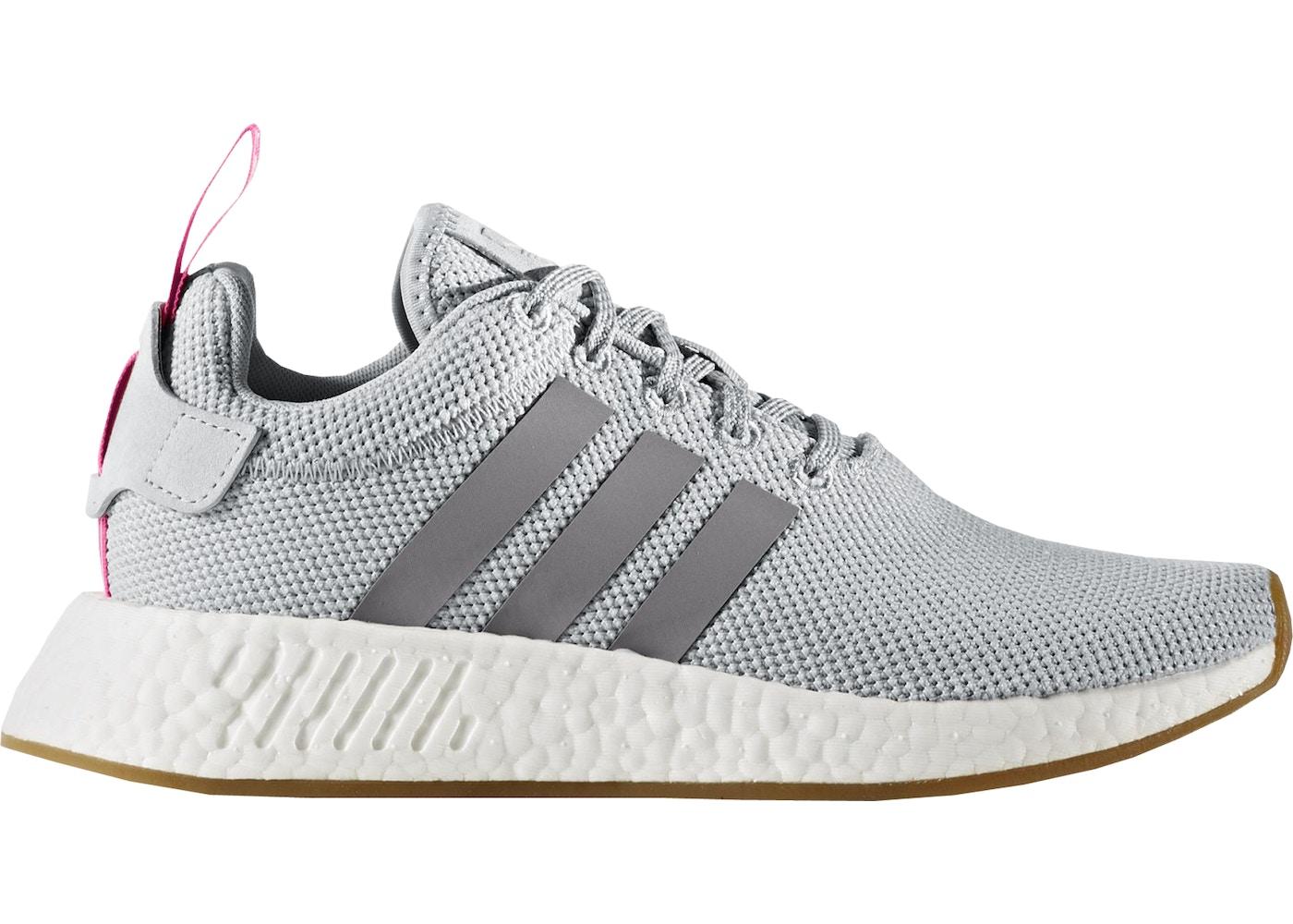 adidas NMD R2 Grey Shock Pink (W)