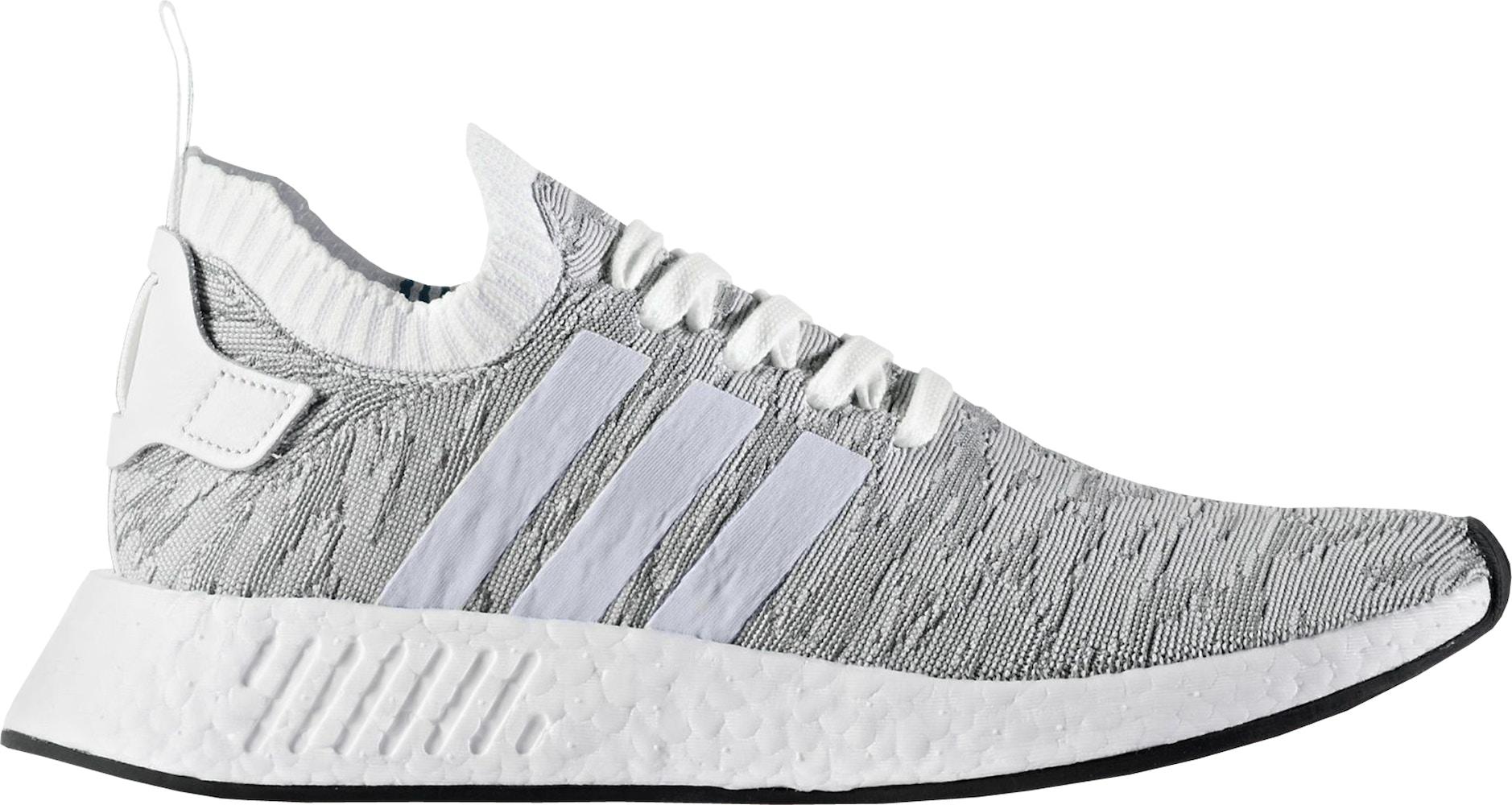 adidas NMD R2 Primeknit White Black