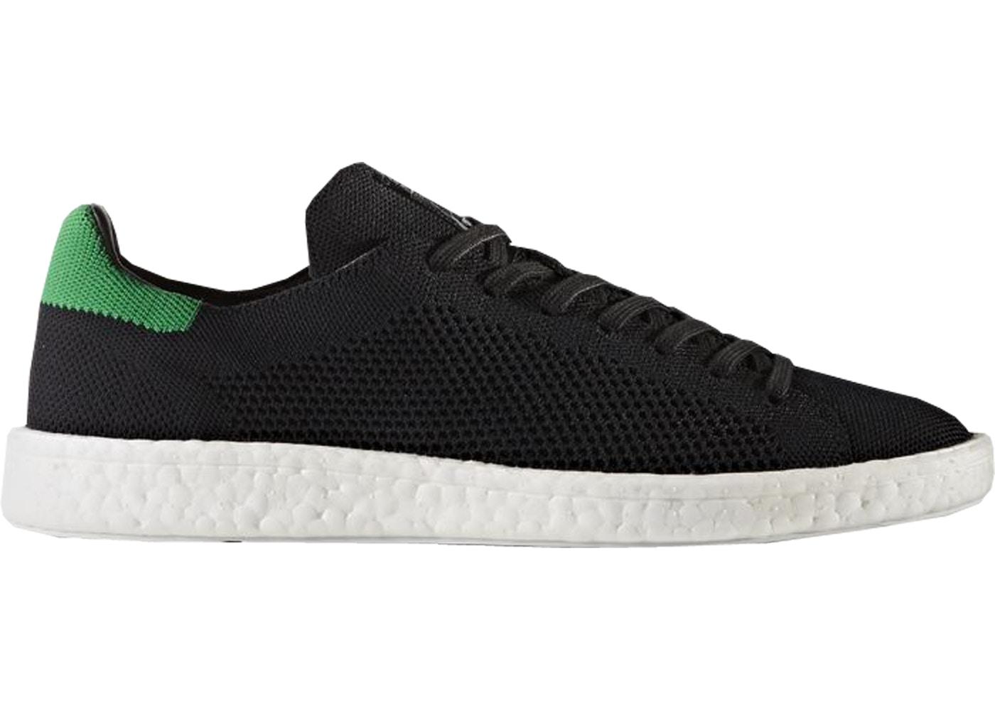 adidas Stan Smith Boost Primeknit Black Green - BZ0095