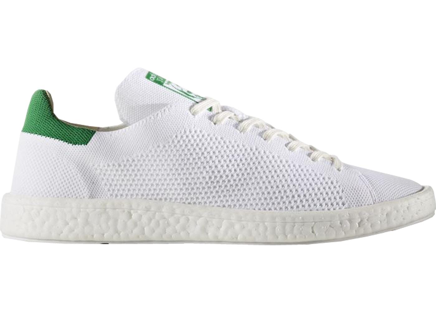 adidas Stan Smith Boost Primeknit White Green - BB0013