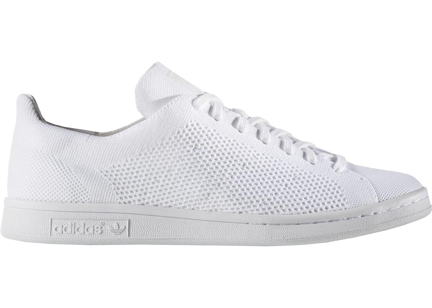 adidas Stan Smith Primeknit Triple White - BB3786