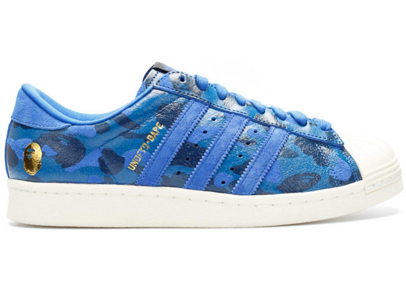 adidas Superstar 80s Undftd Bape Blue Camo