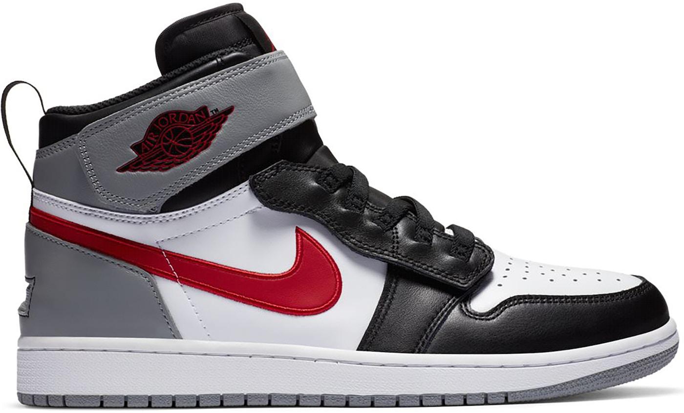 Jordan 1 Flyease Black Particle Grey Gym Red (GS)