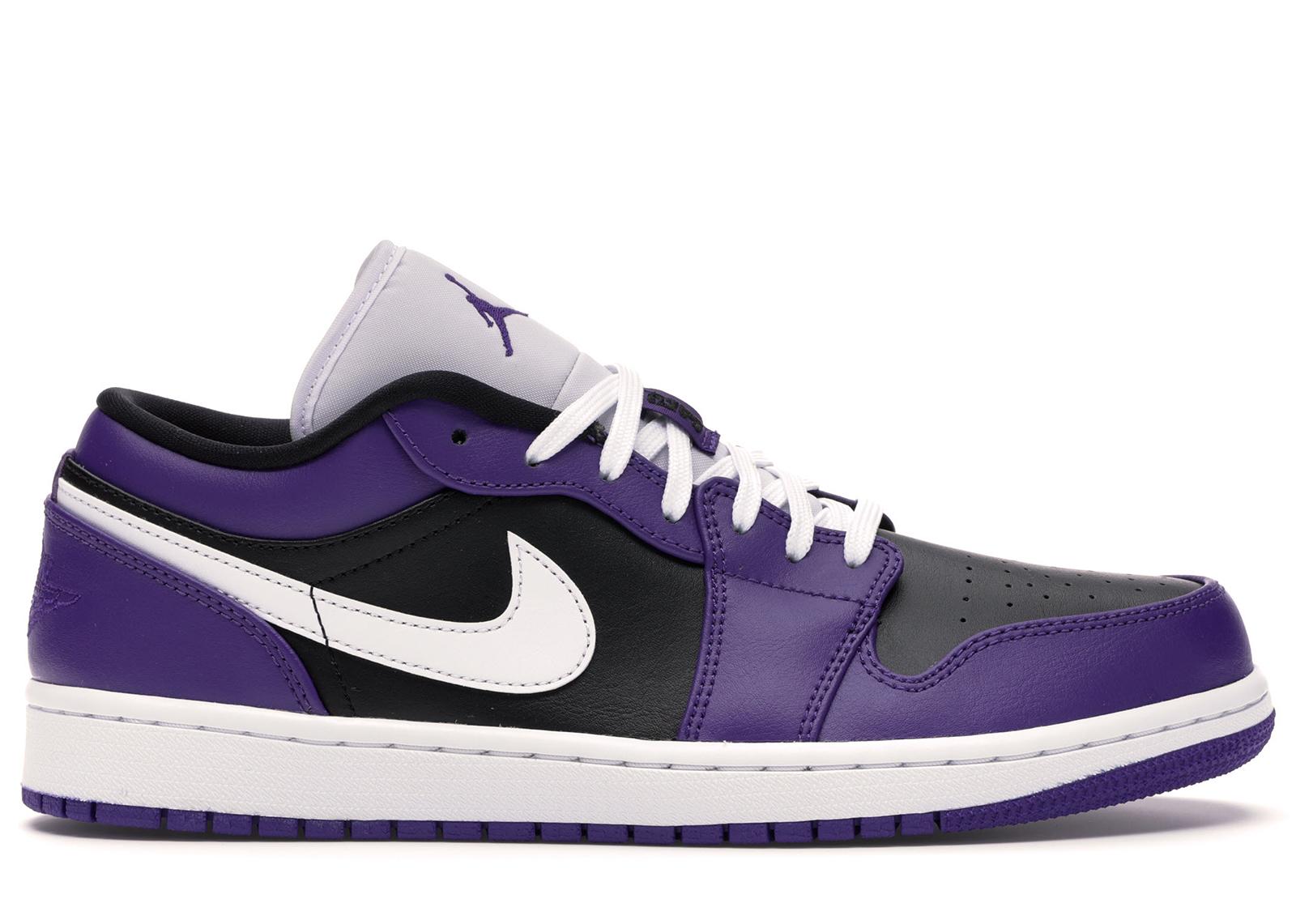 Jordan 1 Low Court Purple Black