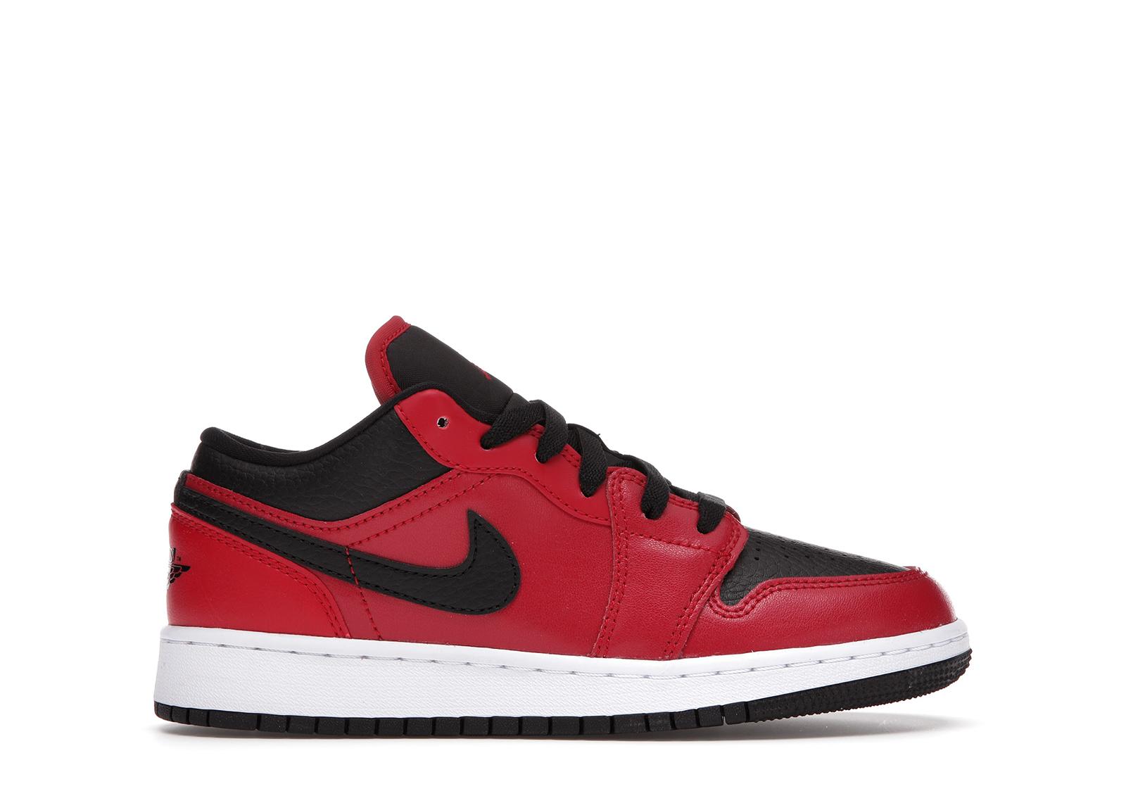Jordan 1 Low Gym Red Black Pebbled (GS)