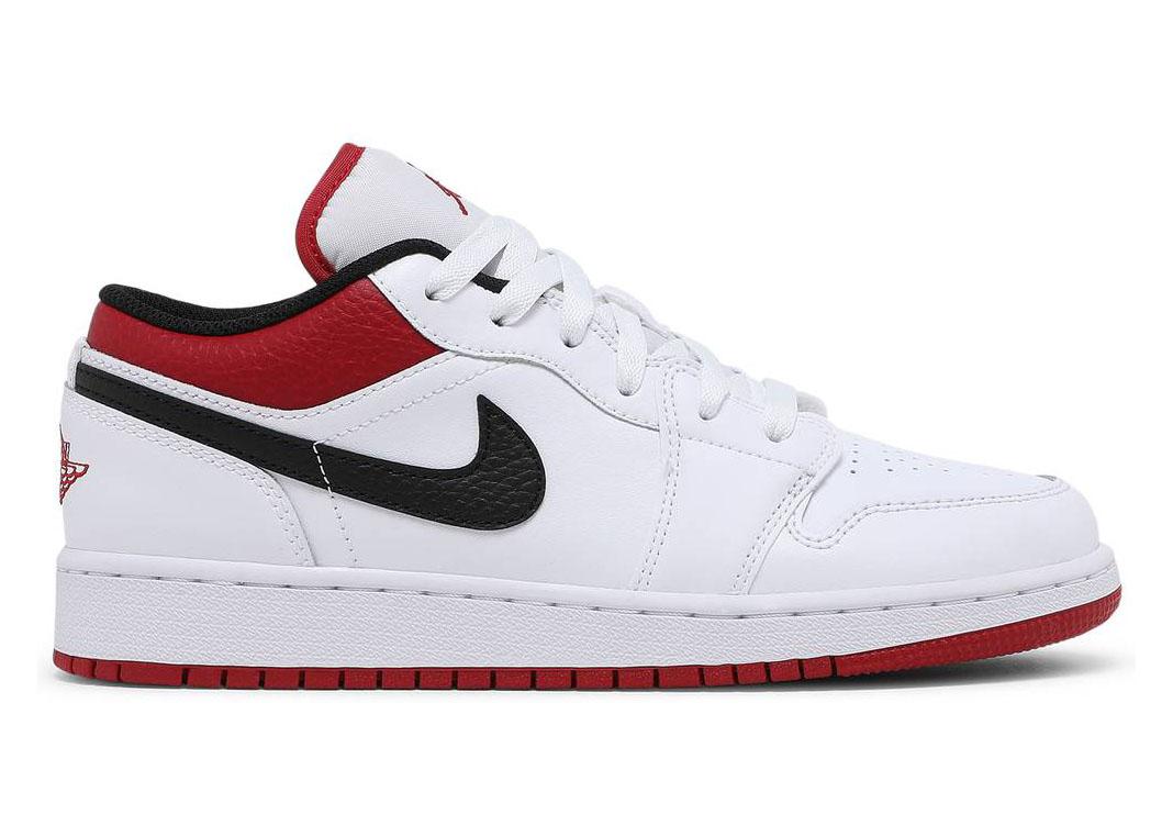 Jordan 1 Low White Gym Red (GS)