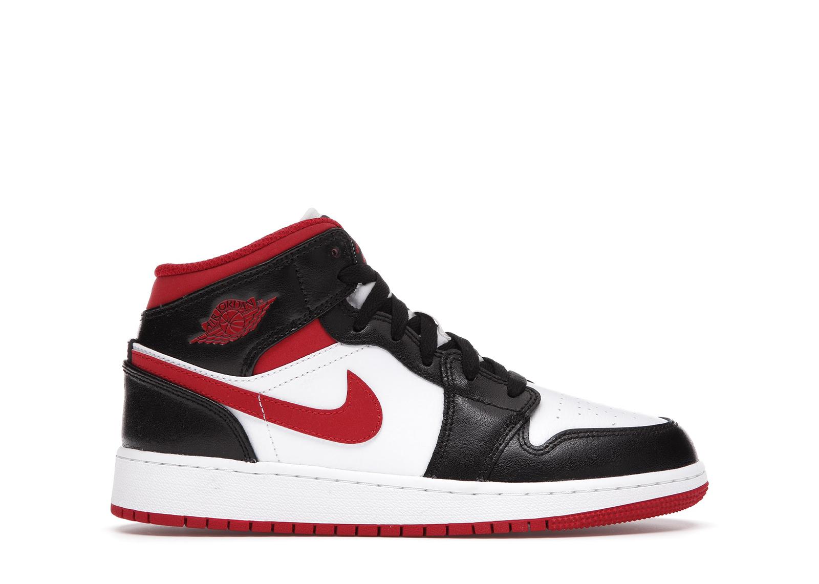 Jordan 1 Mid Gym Red Black White (GS) - DJ4695-122