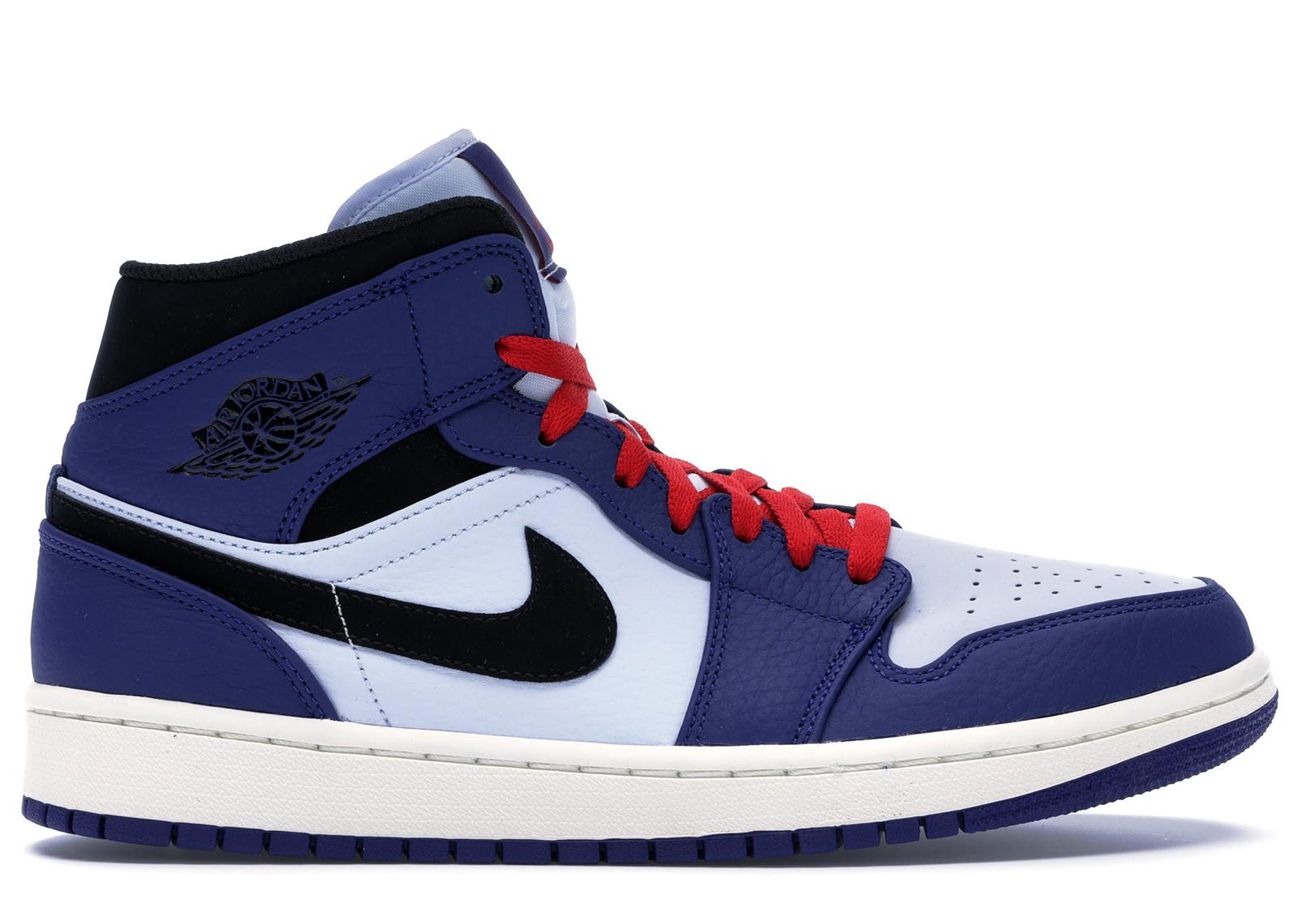 Jordan 1 Mid Deep Royal Blue Black