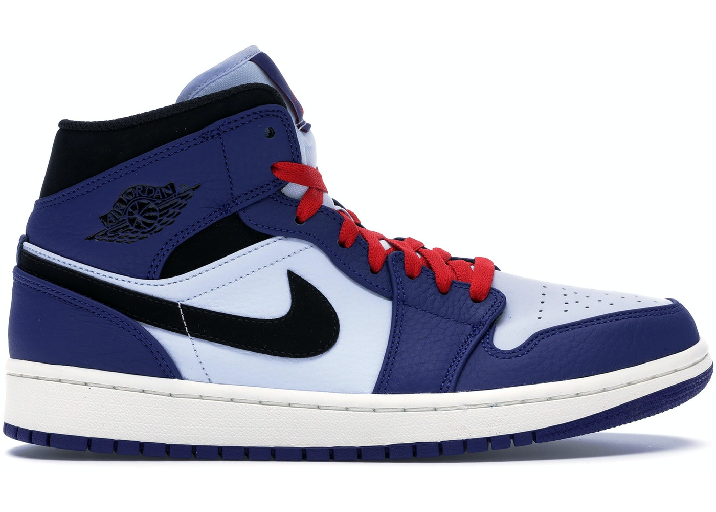 fácilmente espalda superávit  Jordan 1 Mid Deep Royal Blue Black - 852542-400