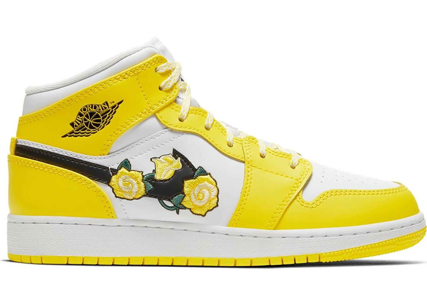 Jordan 1 Mid Dynamic Yellow Floral (GS)