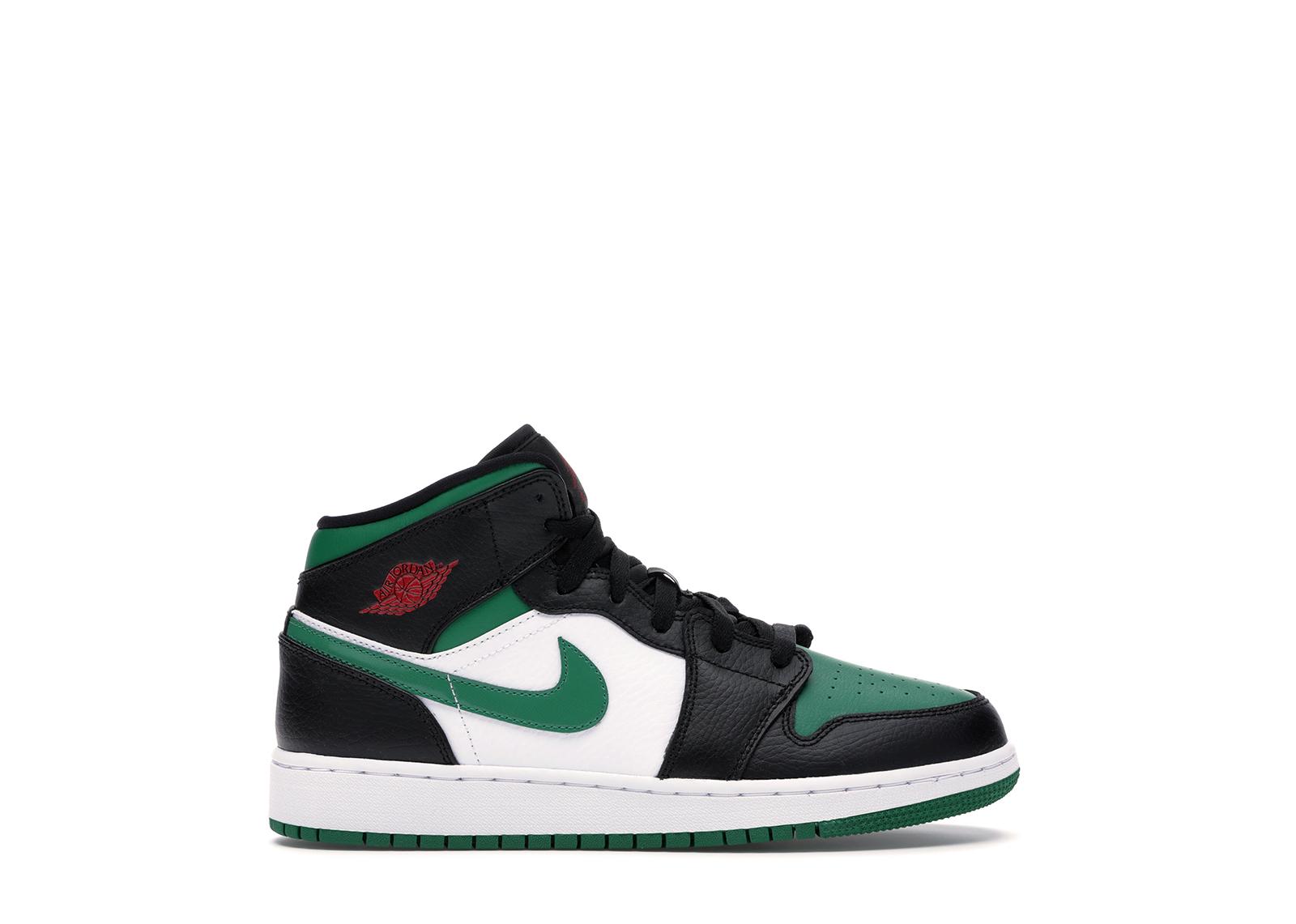 Jordan 1 Mid Green Toe (GS)