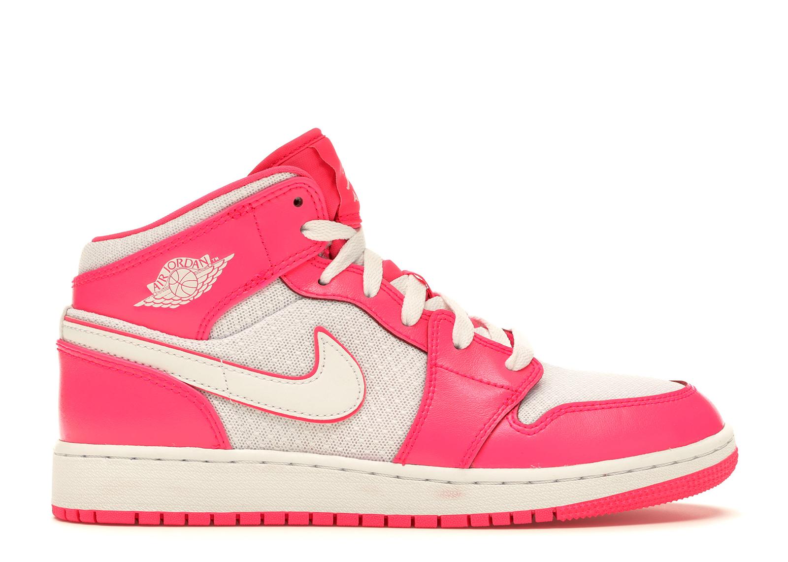 Jordan 1 Mid Hyper Pink White (GS)