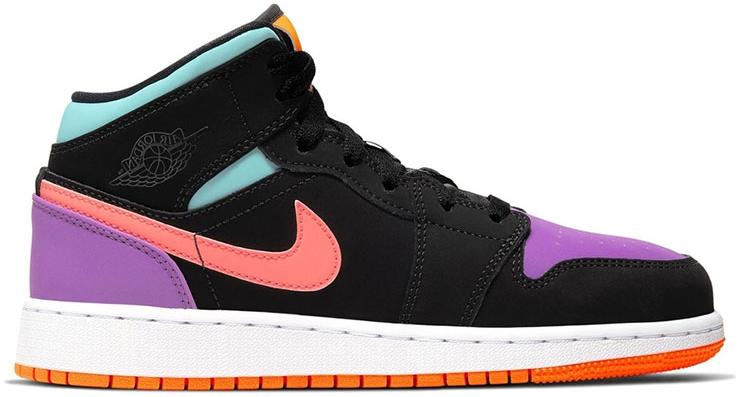Jordan 1 Mid Multi-Color (GS) - 554725 083