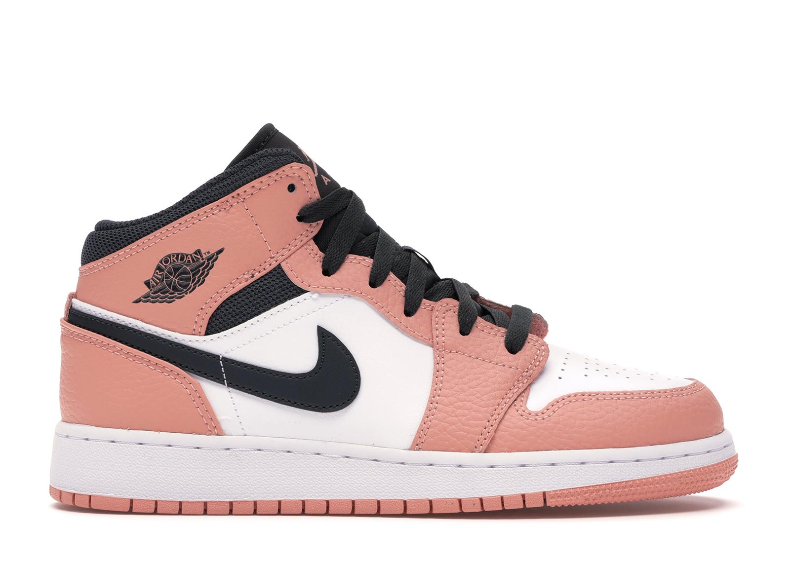 Jordan 1 Mid Pink Quartz (GS) - 555112-603