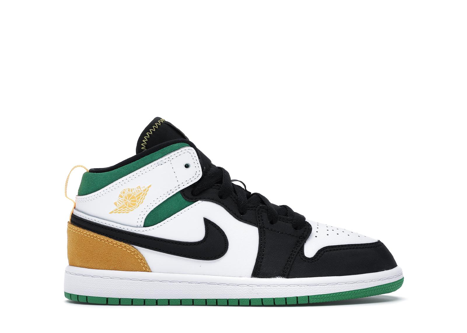 Jordan 1 Mid SE White Laser Orange Lucky Green (PS) - BQ6932-101