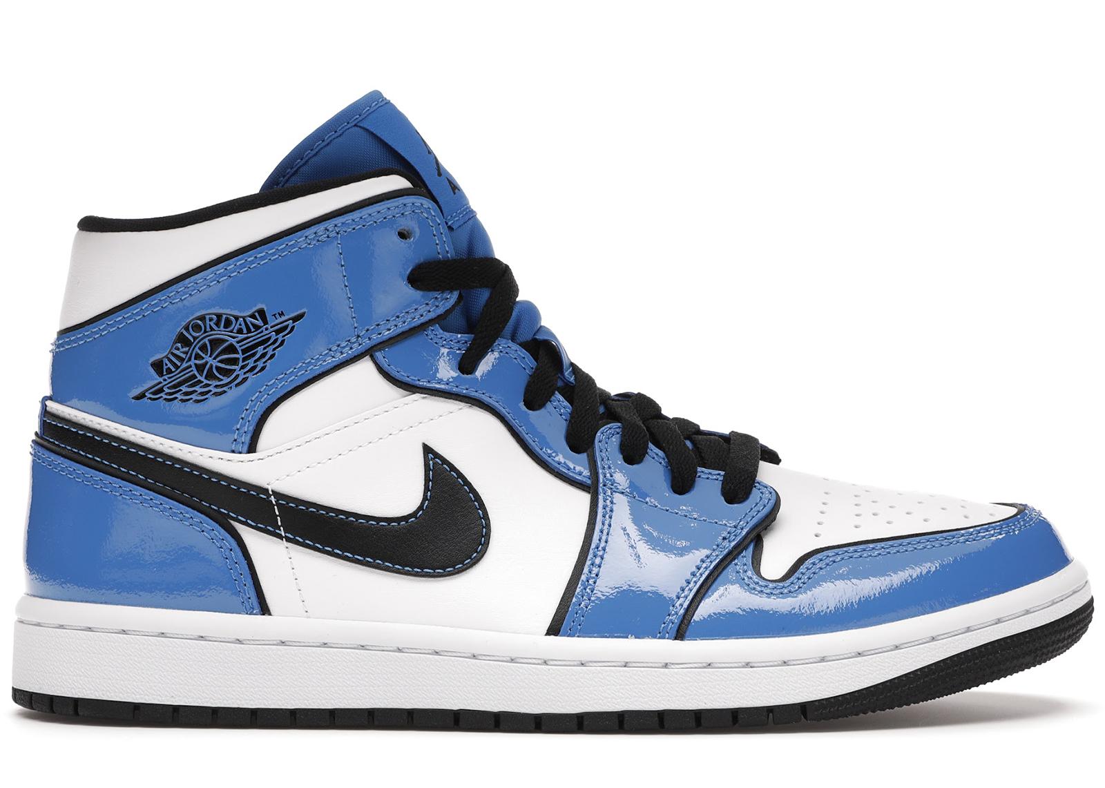 Jordan 1 Mid Signal Blue