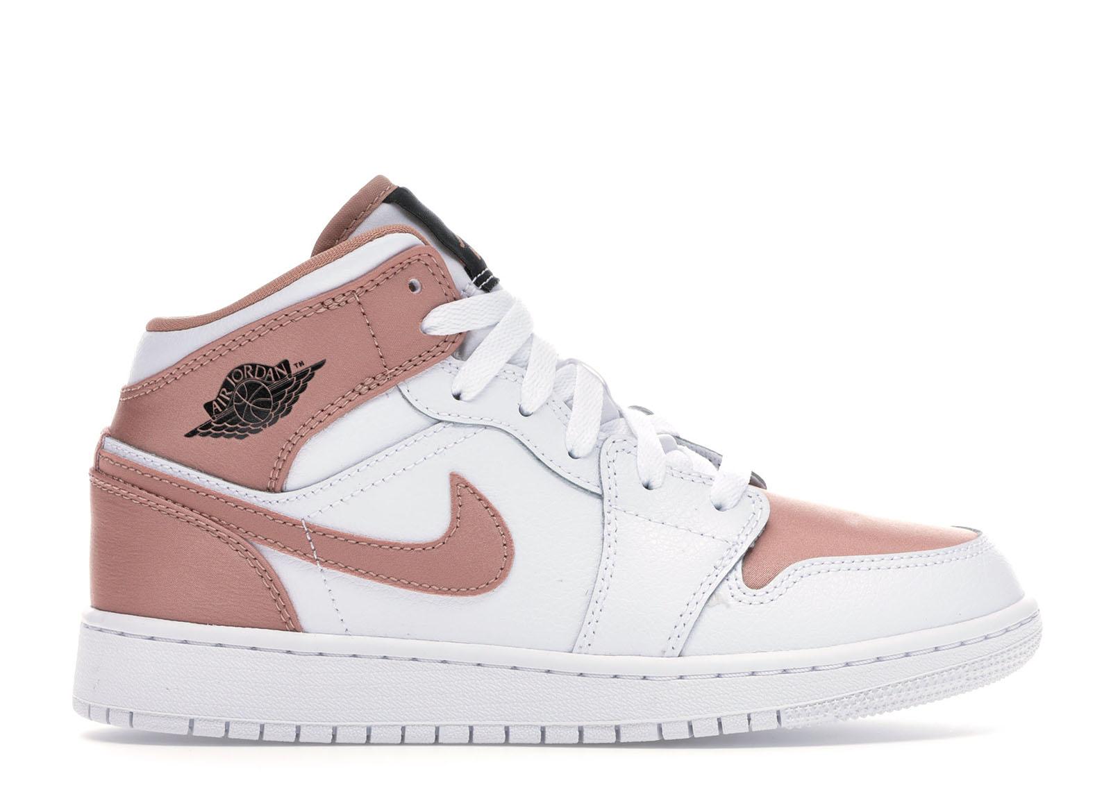 Jordan 1 Mid White Rose Gold (GS) - 555112-190
