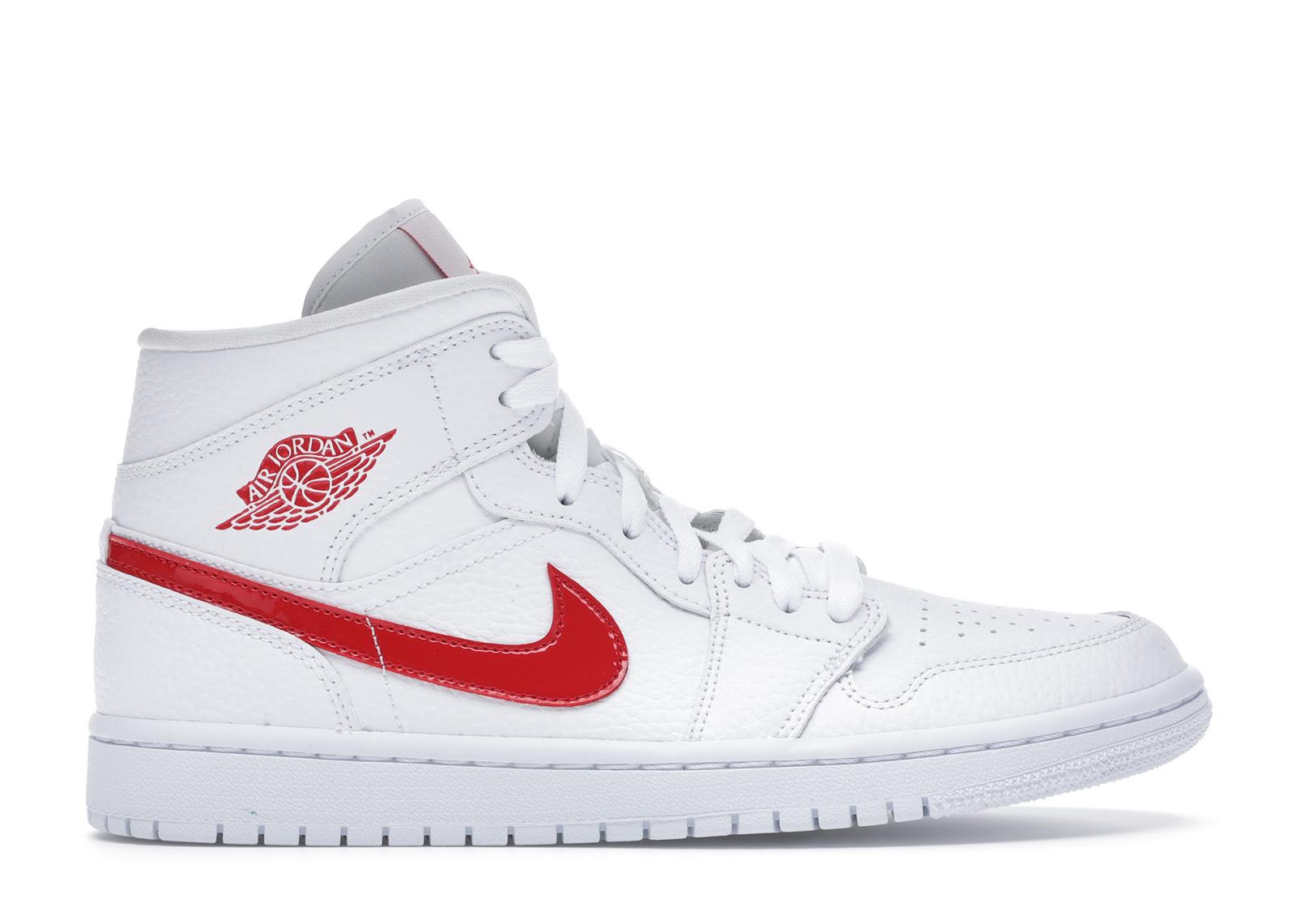 Jordan 1 Mid White University Red (W) - BQ6472-106