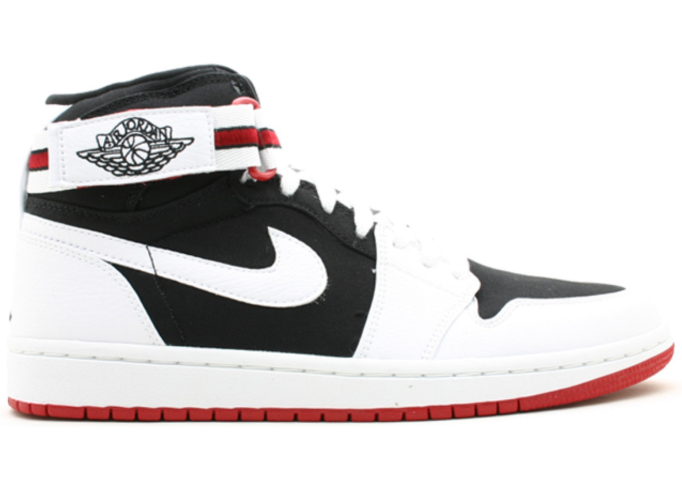 nike air jordan 1 retro high strap blanc noir rouge